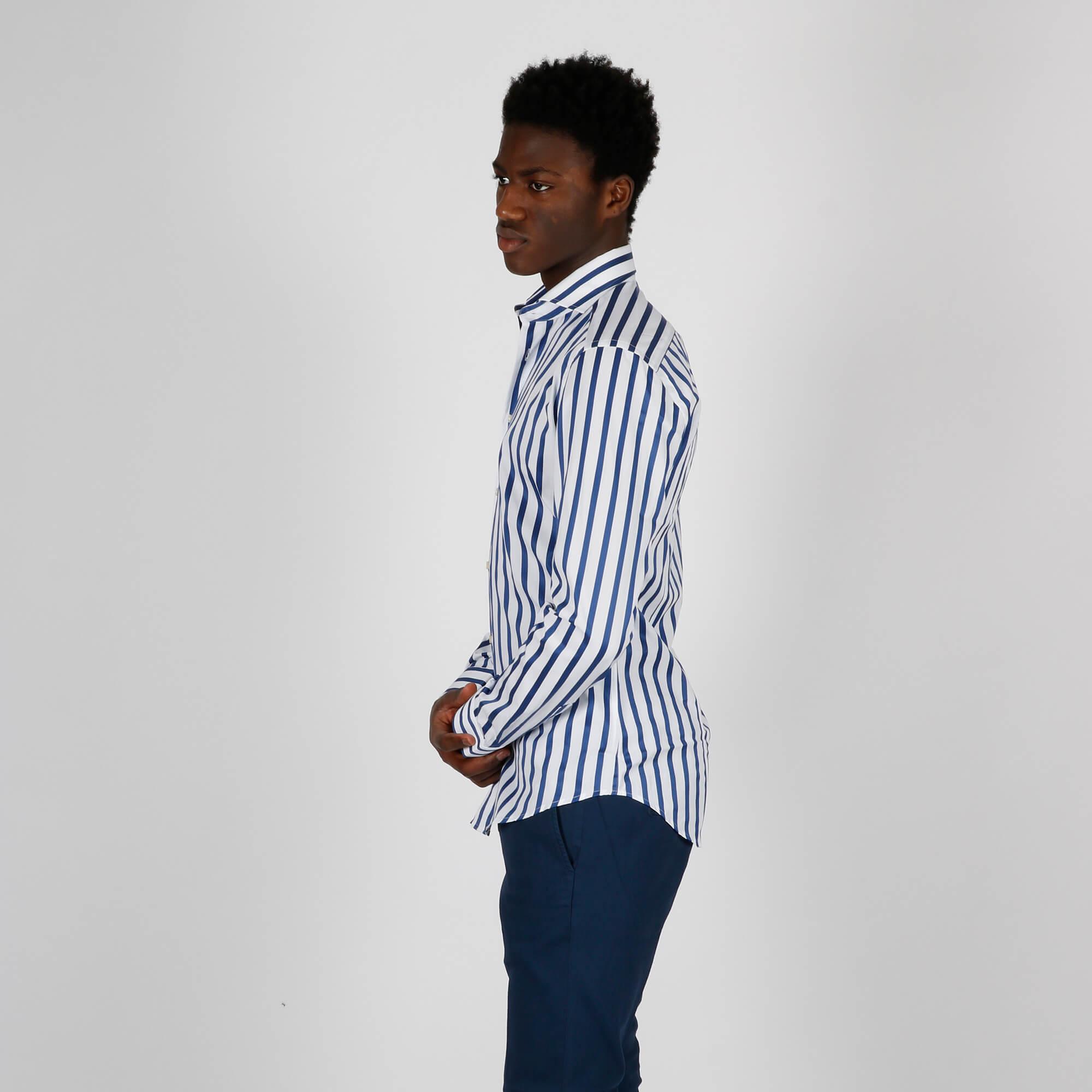 Camicia righe - Bianco/ Blu