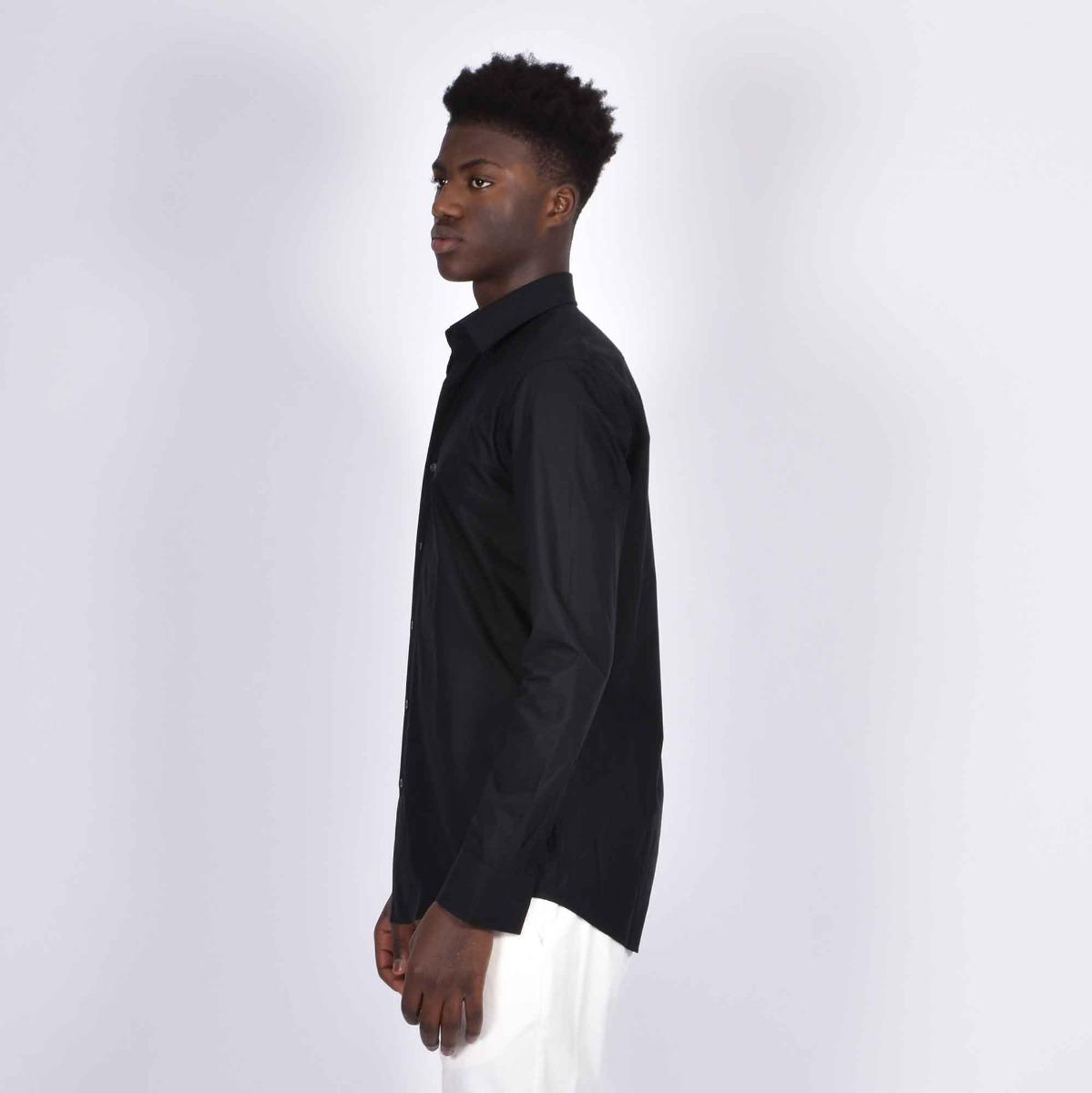 Camicia basica slim fit- Nero