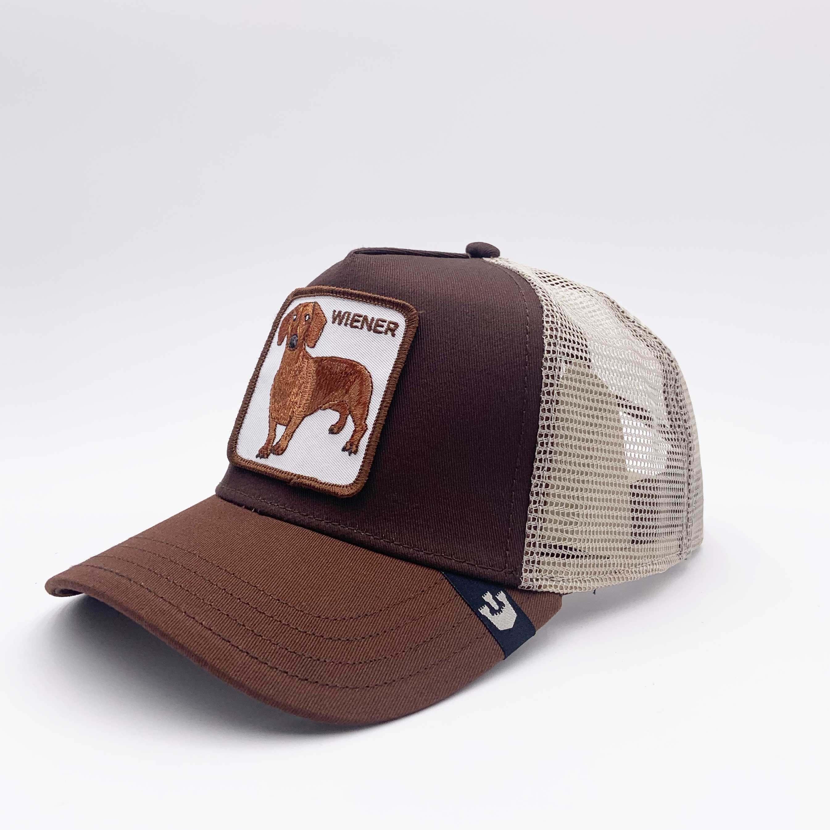 Cappello baseball bassotto wiener - Marrone