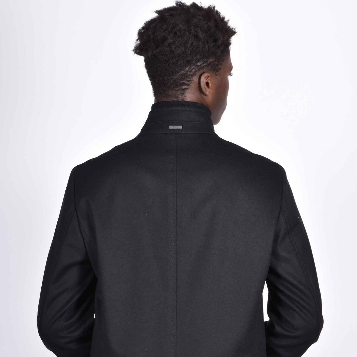 Cappotto slim fit in lana vergine e cashmere - Nero