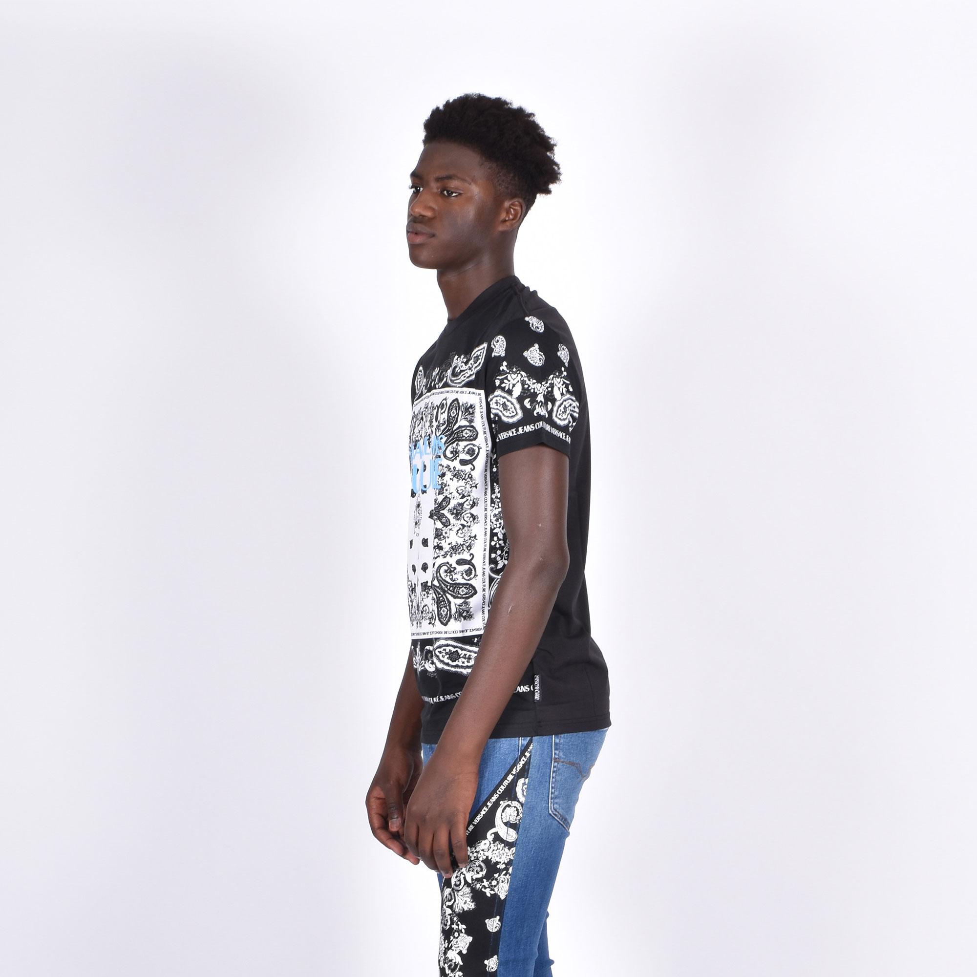 T-shirt stampa bandana - Nero