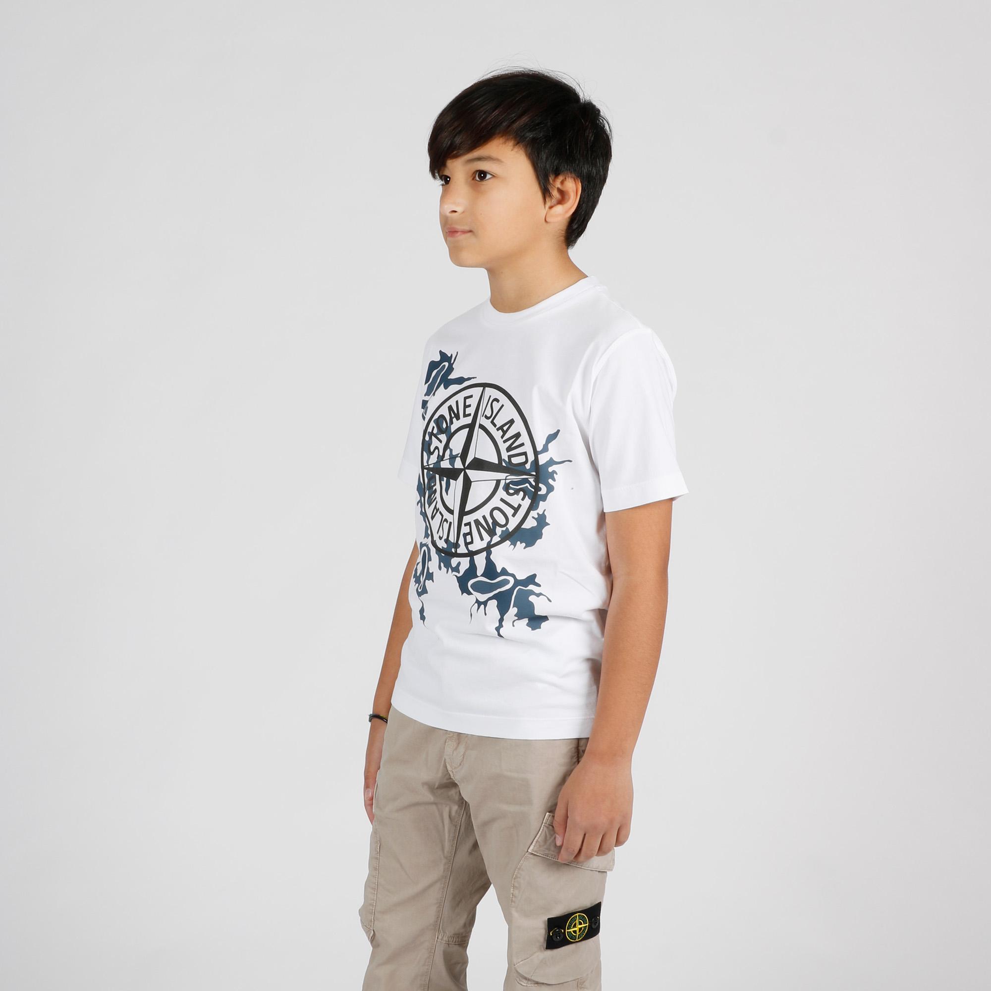T-shirt logo camouflage - Bianco