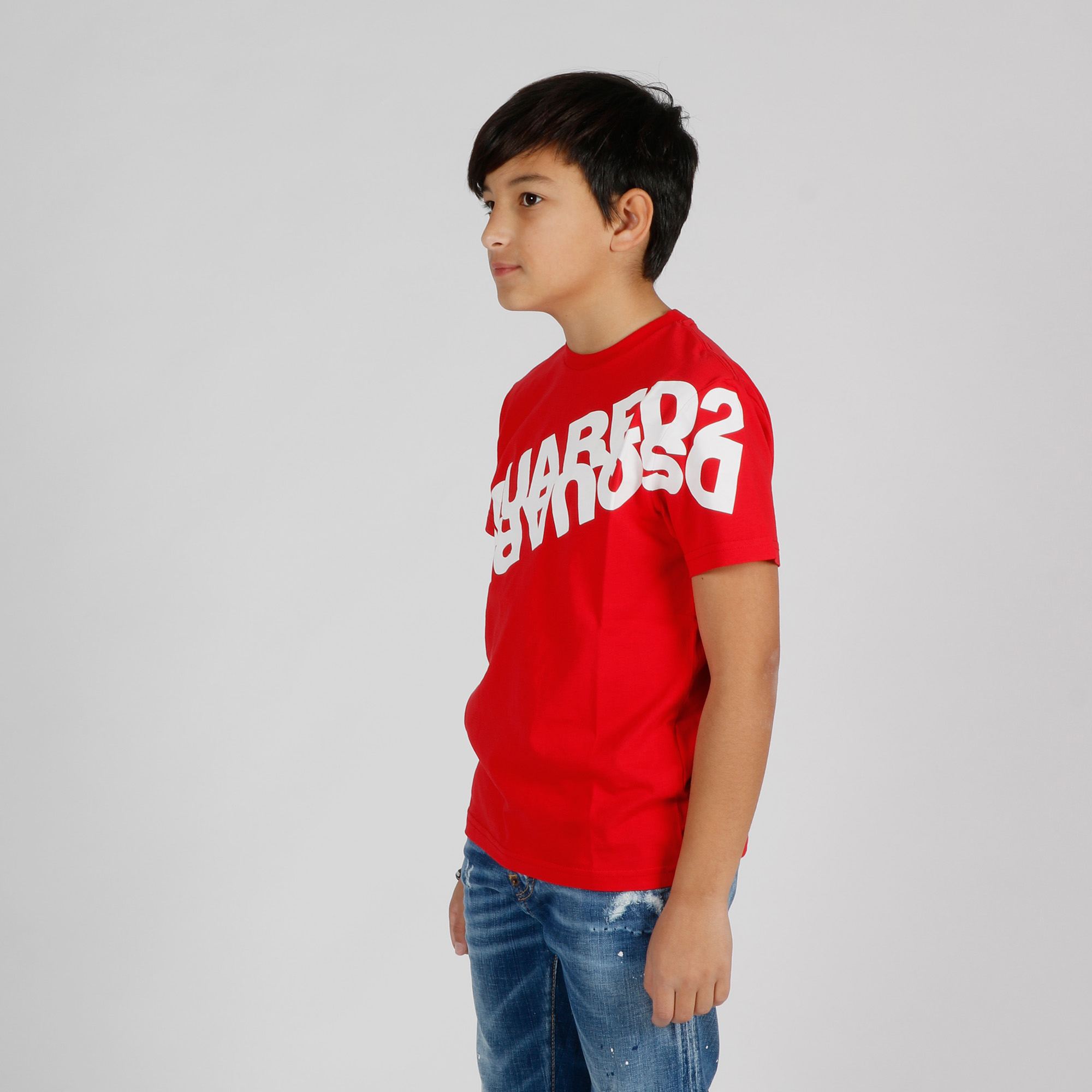 T-shirt maxi stampa logo - Rosso