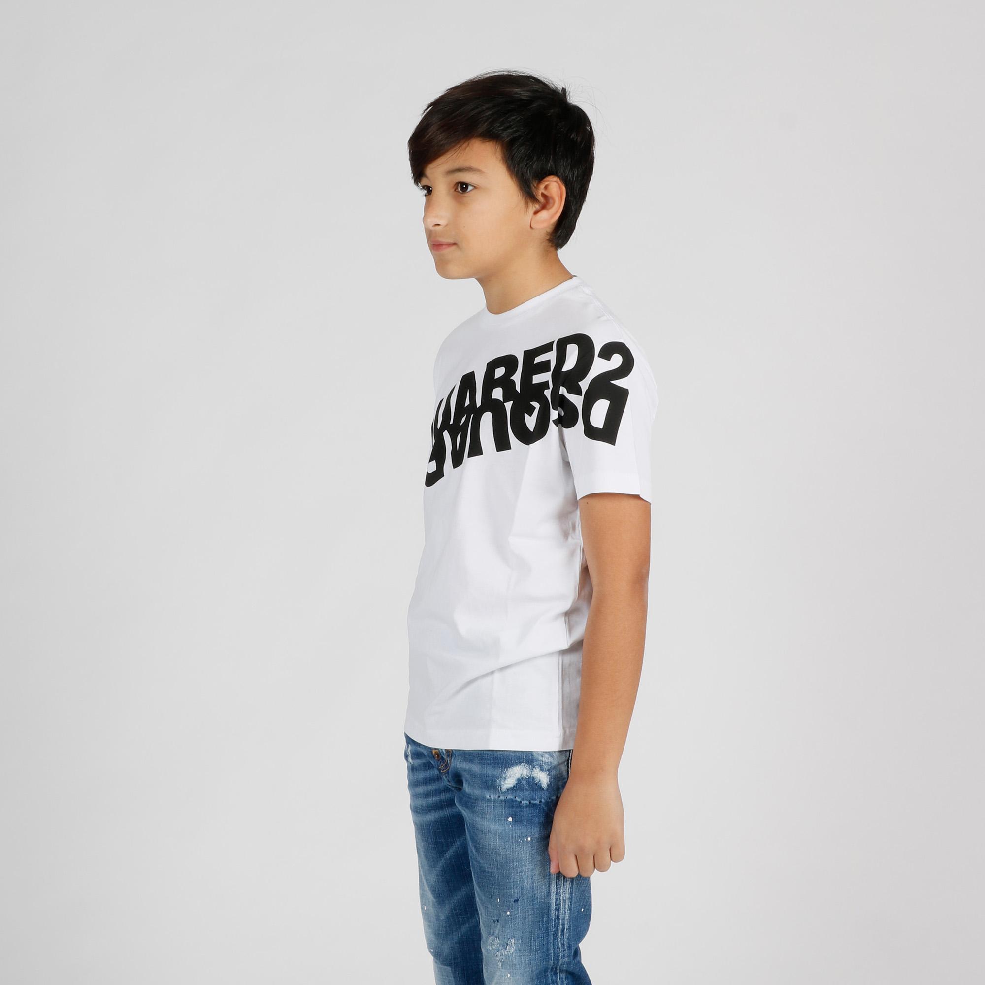 T-shirt maxi stampa logo - Bianco