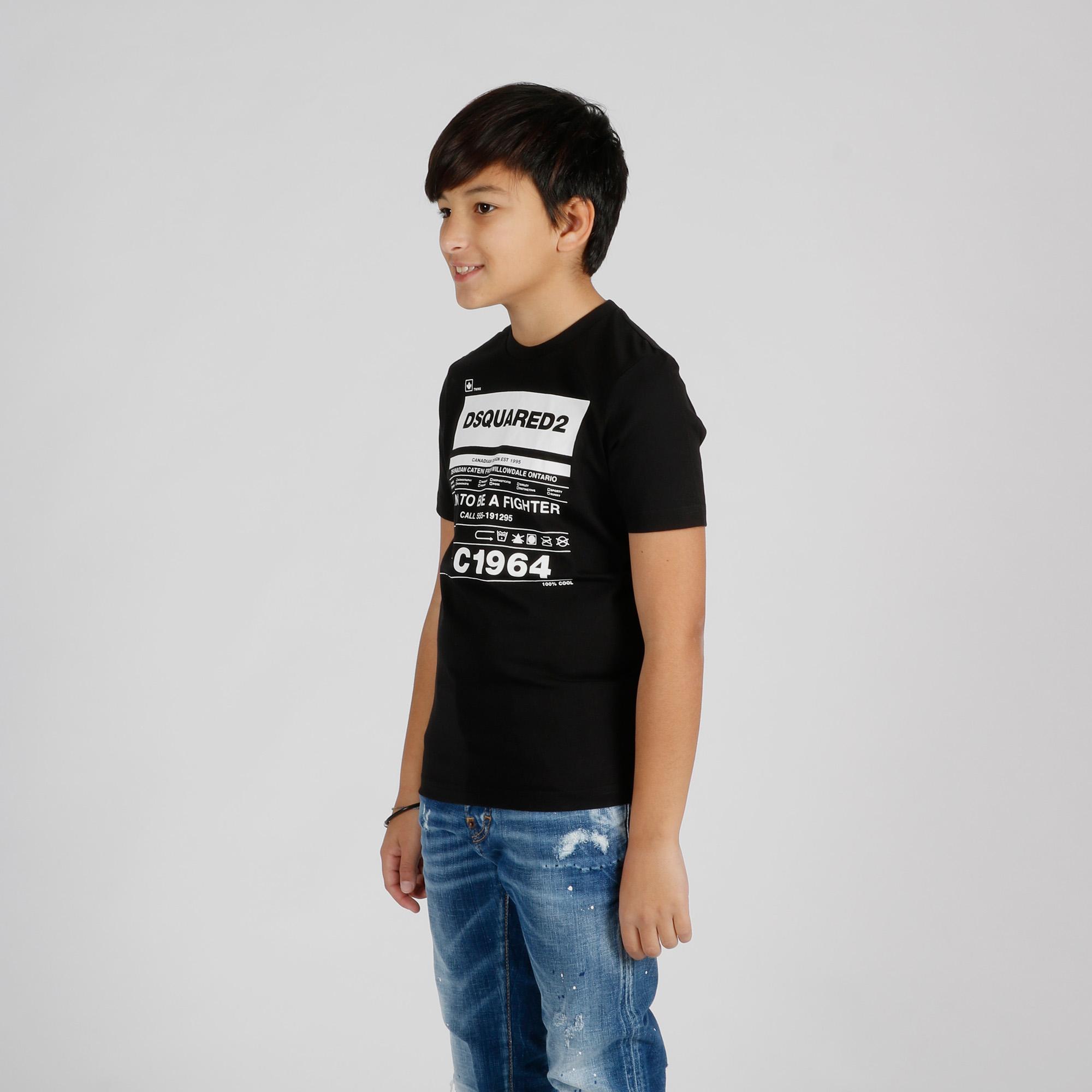 T-shirt logo etichetta - Nero