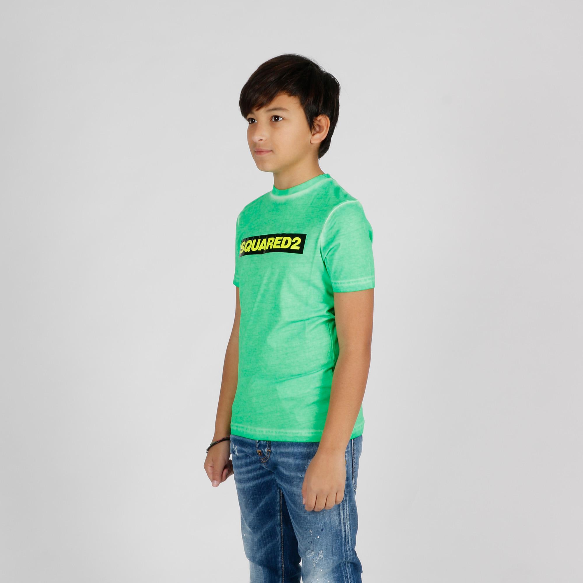 T-shirt effetto vissuto - Verde