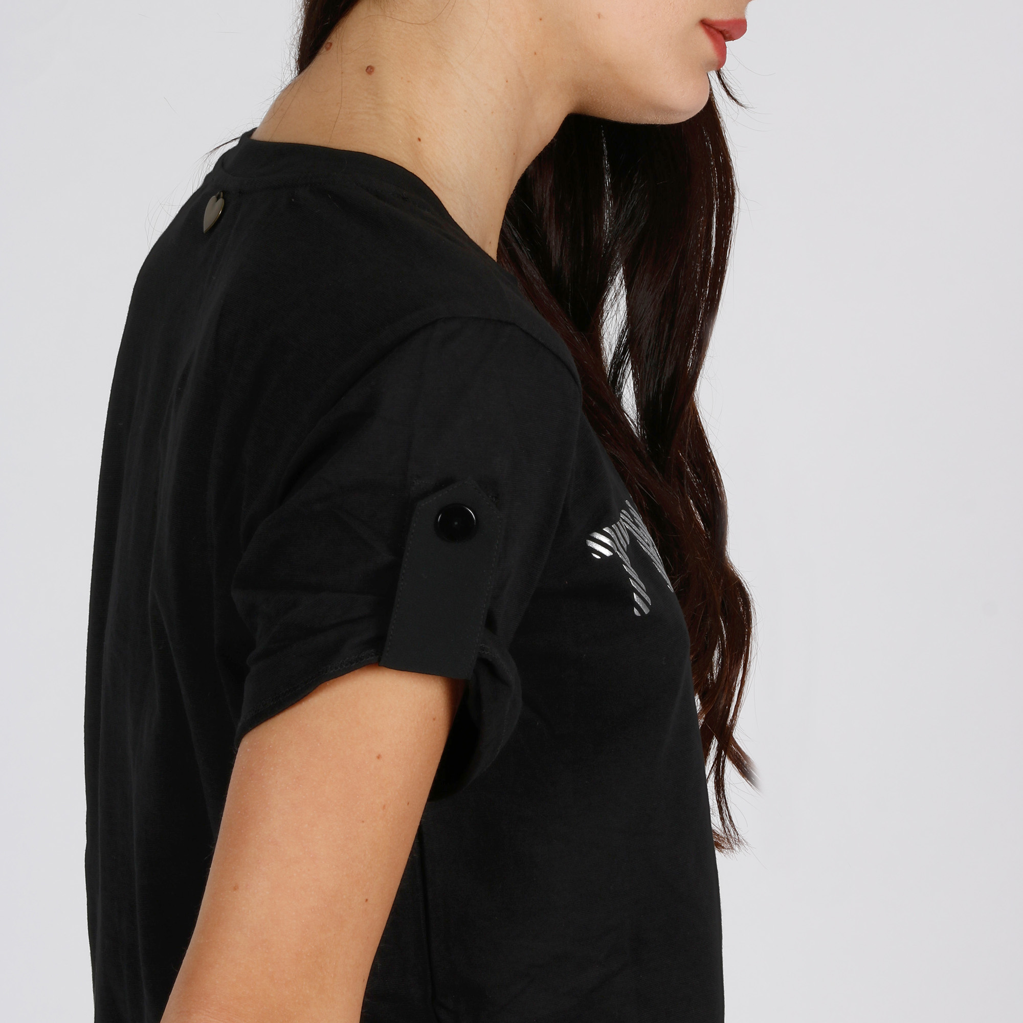 T-shirt logo rilievo - Nero