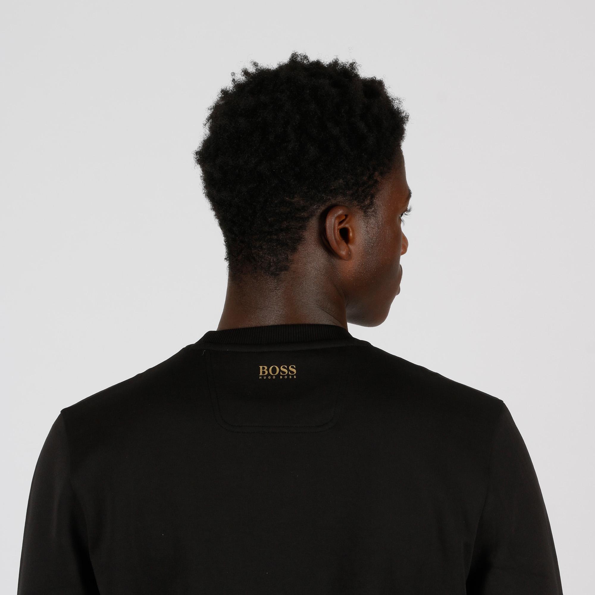 Felpa logo metallizzato - Nero