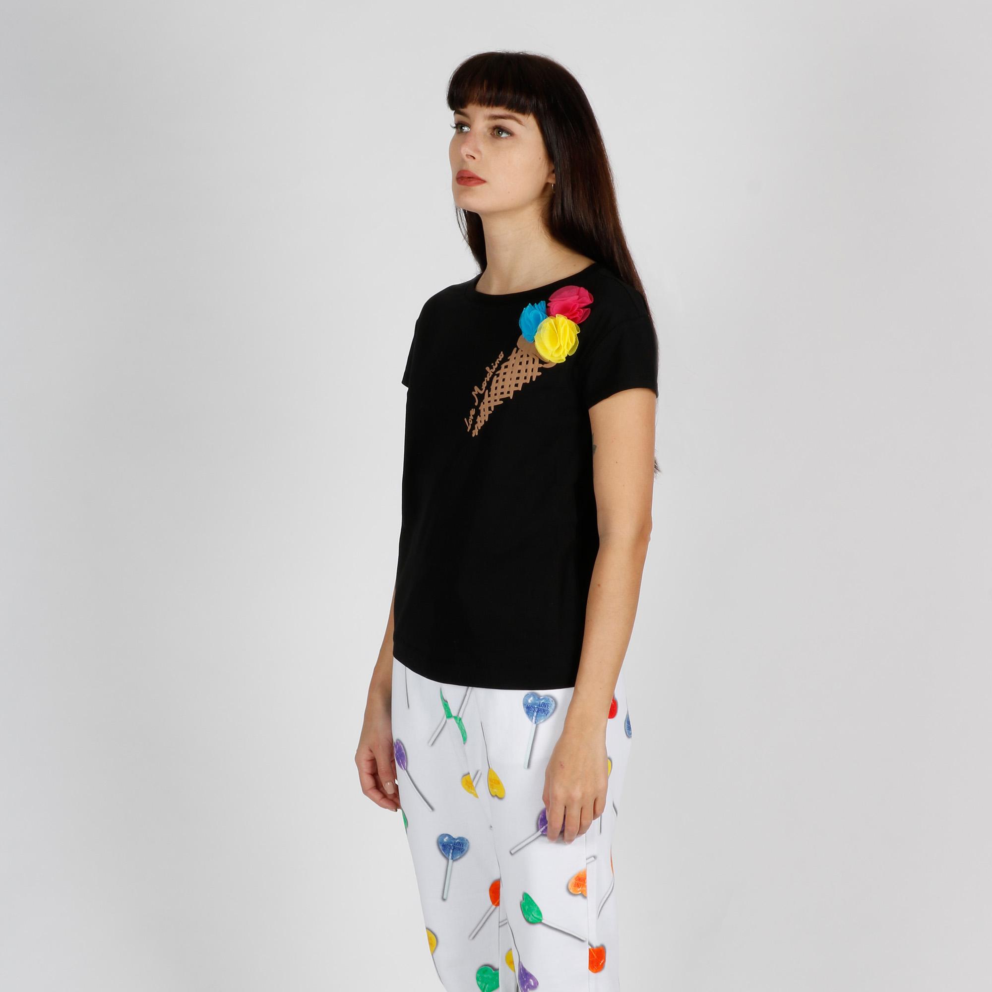 T-shirt cono gelato - Nero