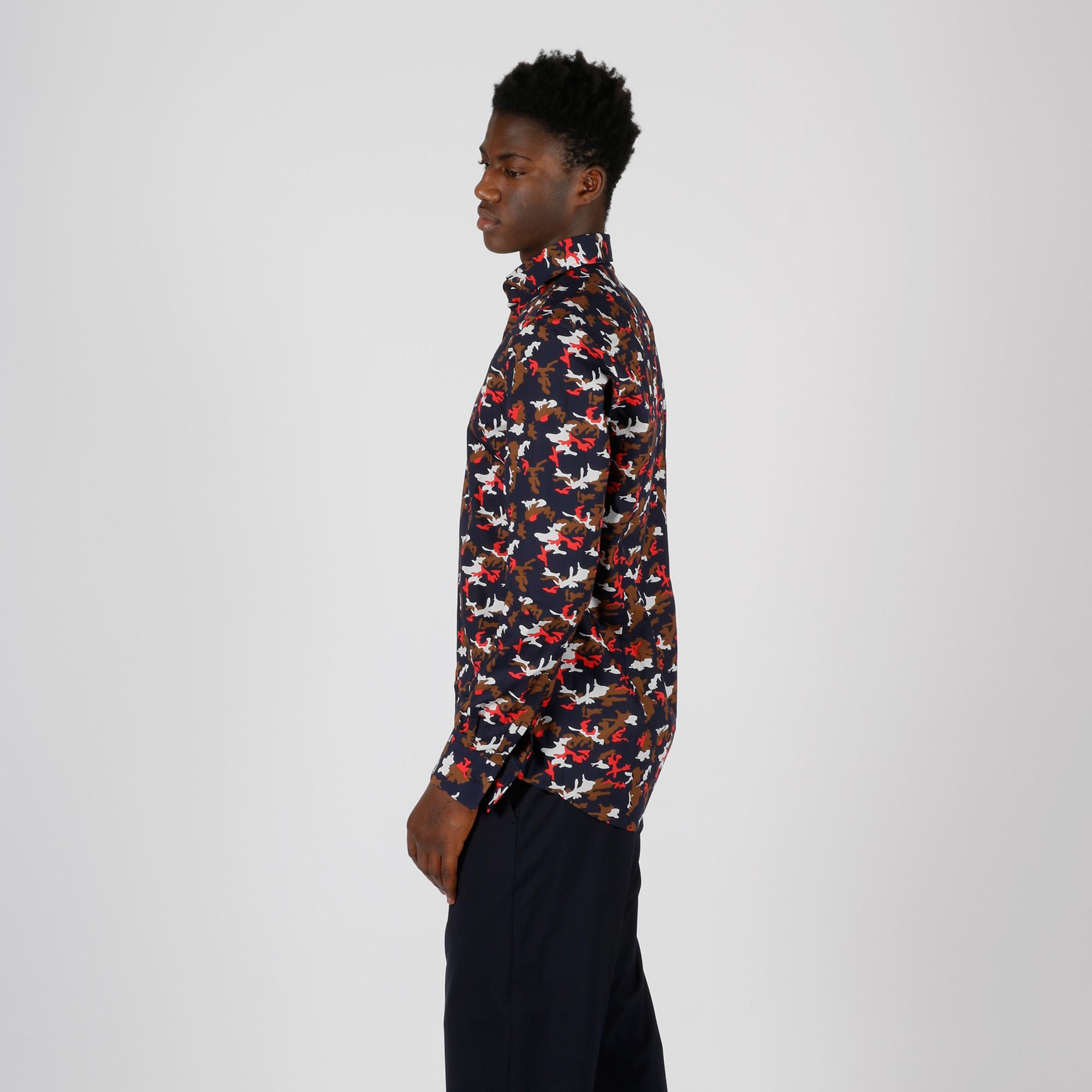 Camicia camouflage - Blu/rosso