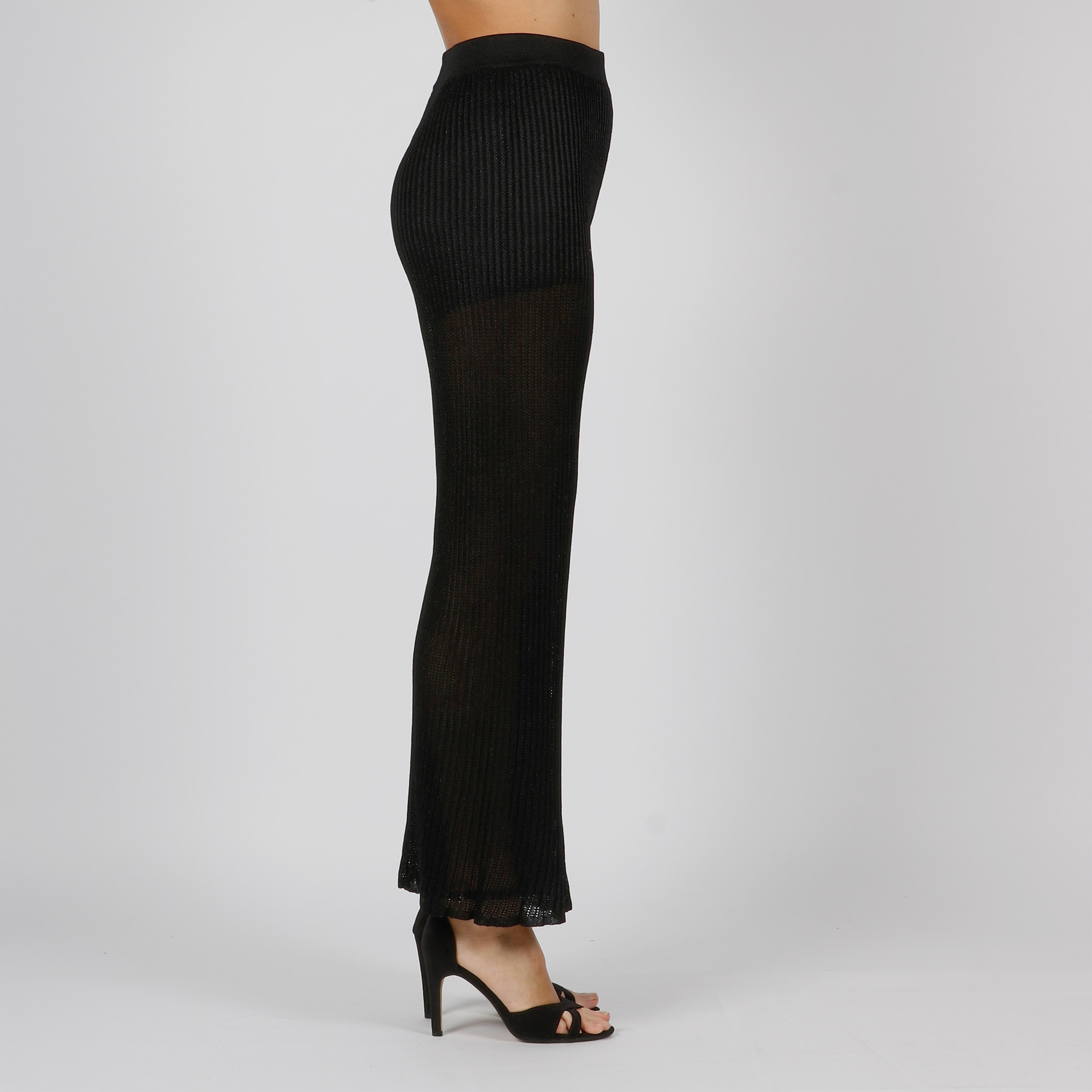 Pantalone maglia plissé - Nero