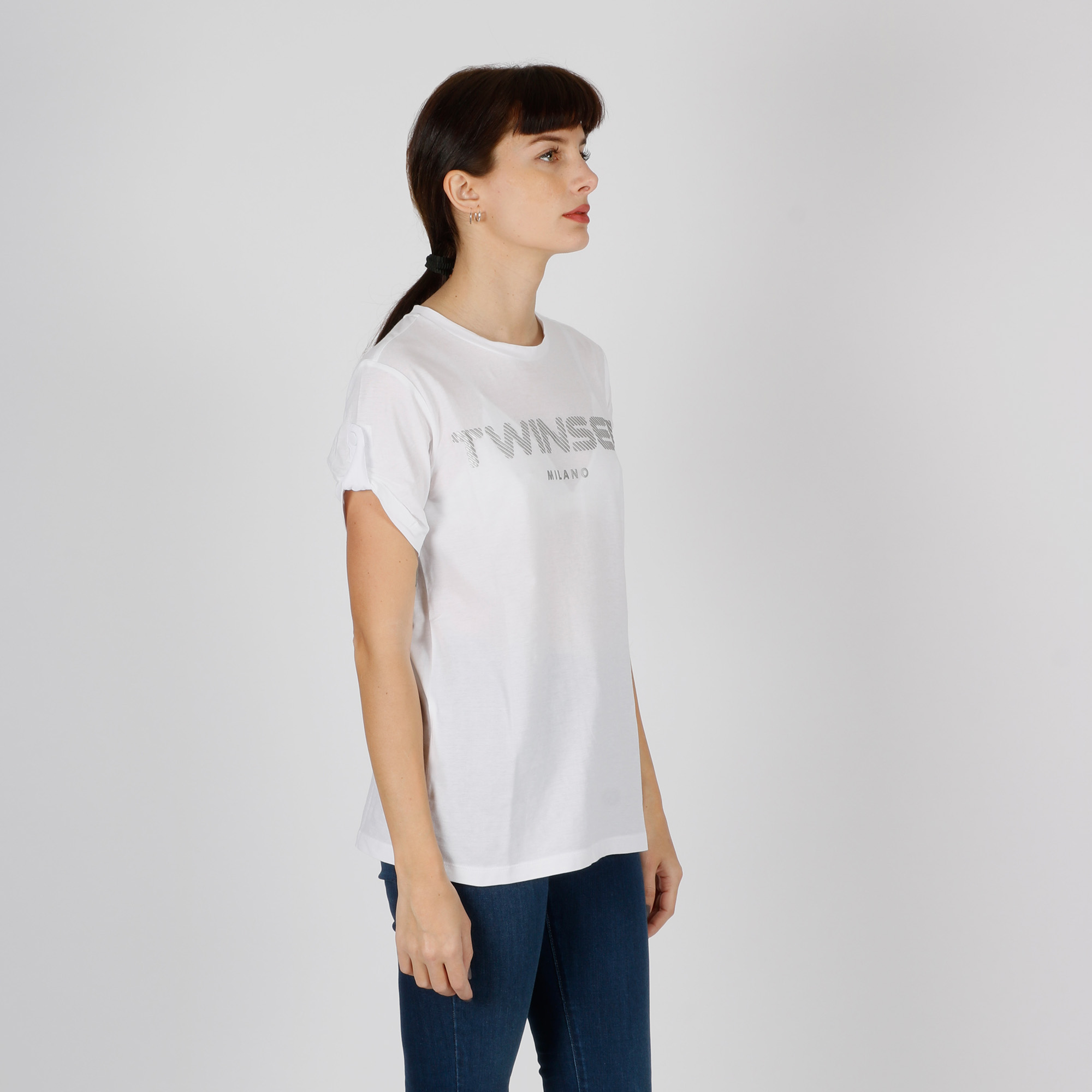 T-shirt logo rilievo - Bianco