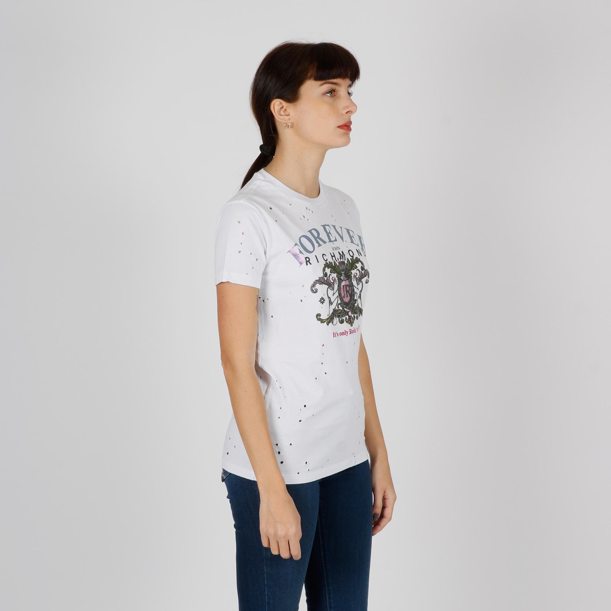 T-shirt monowy - Bianco