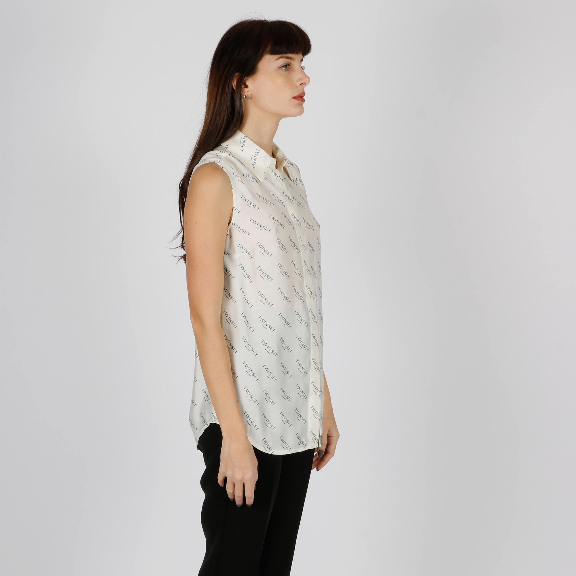 Camicia logo twin all-over - Neve