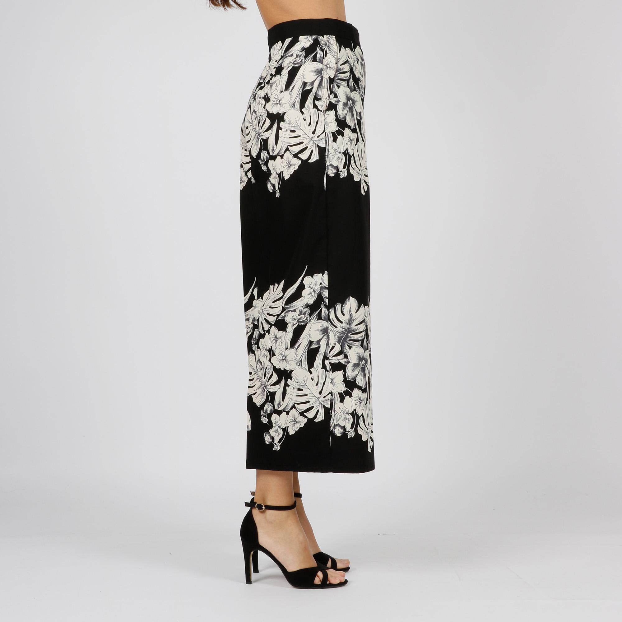 Pantalone cropped hibiscus - Nero