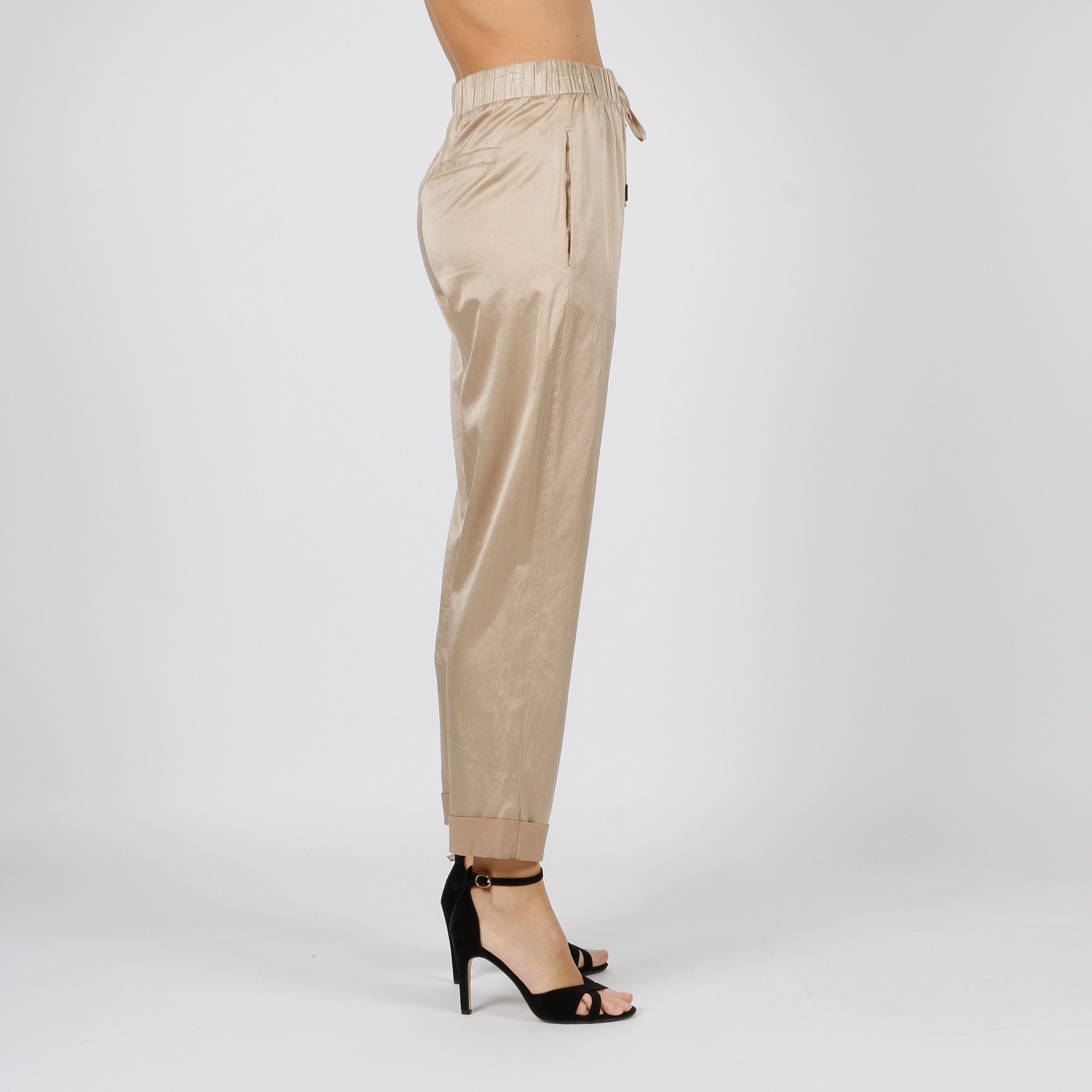 Pantalone in seta - Beige