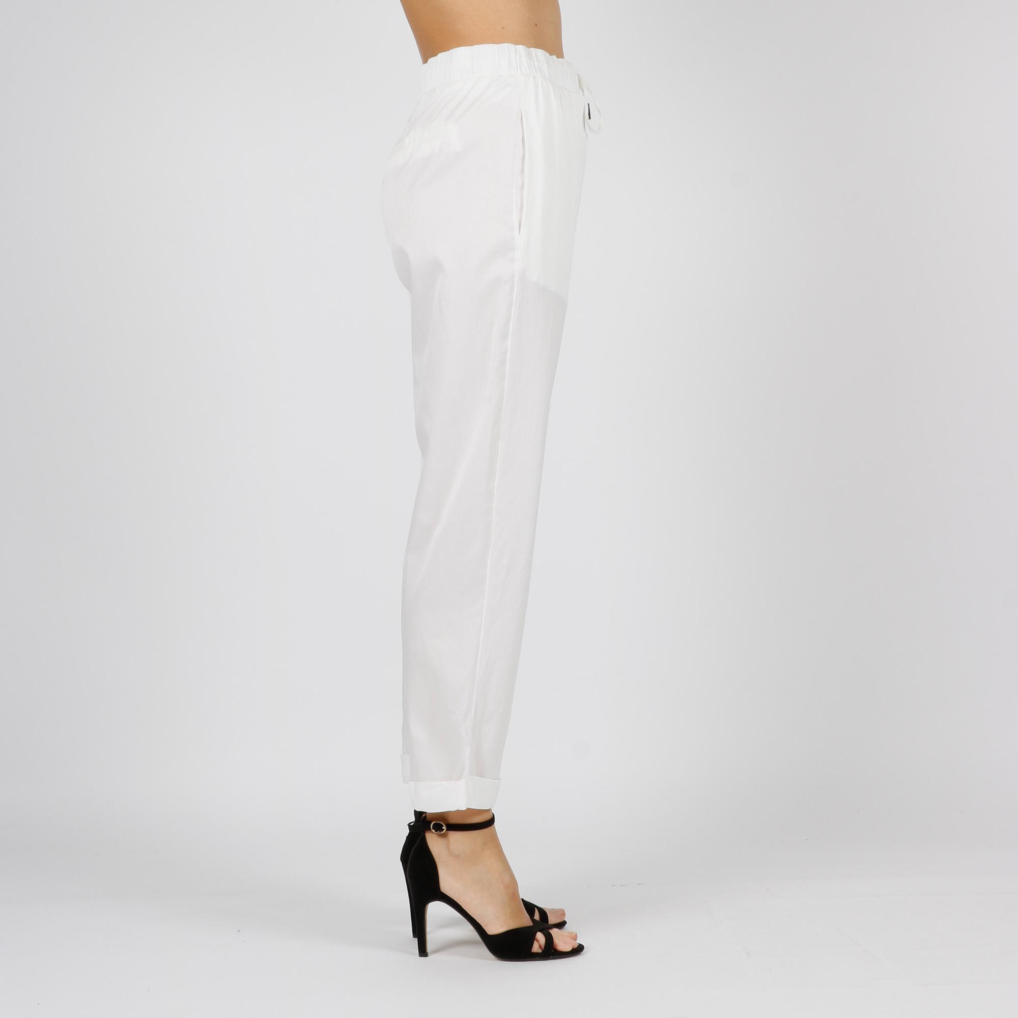 Pantalone in seta - Bianco