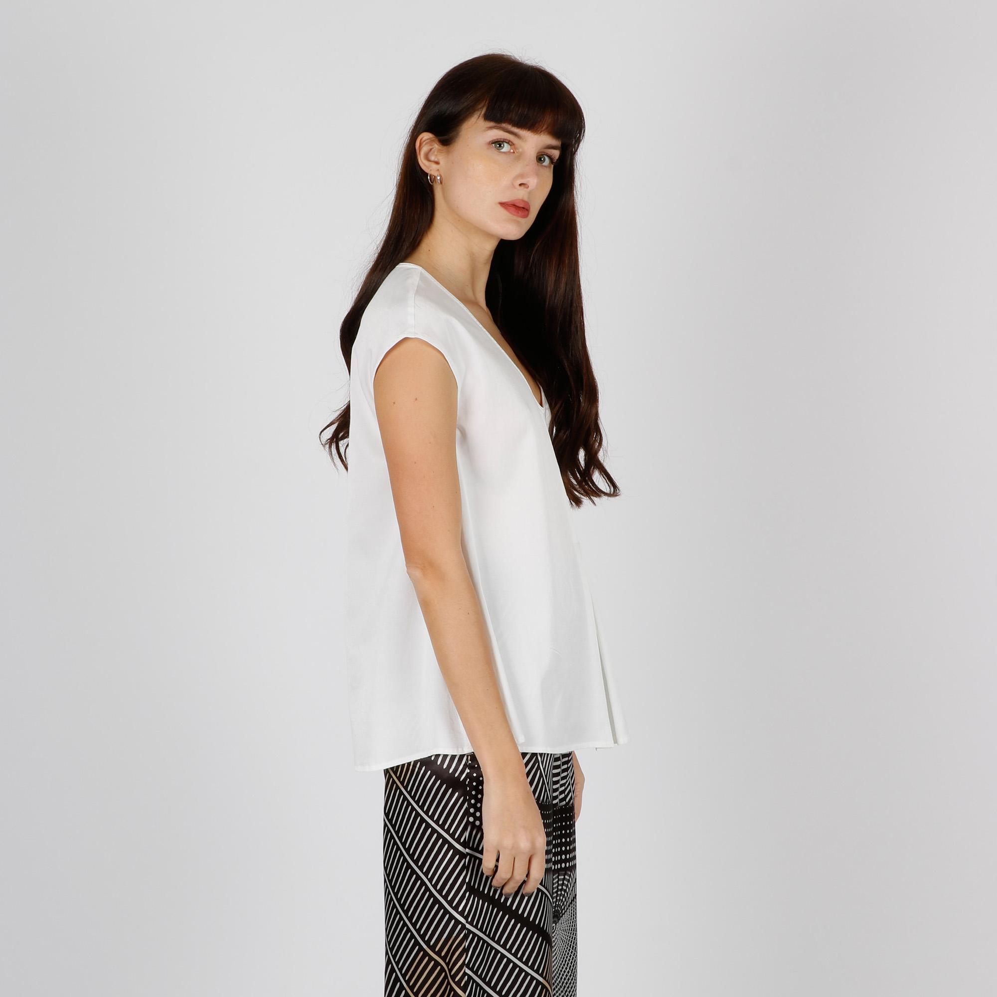Blusa in seta - Bianco
