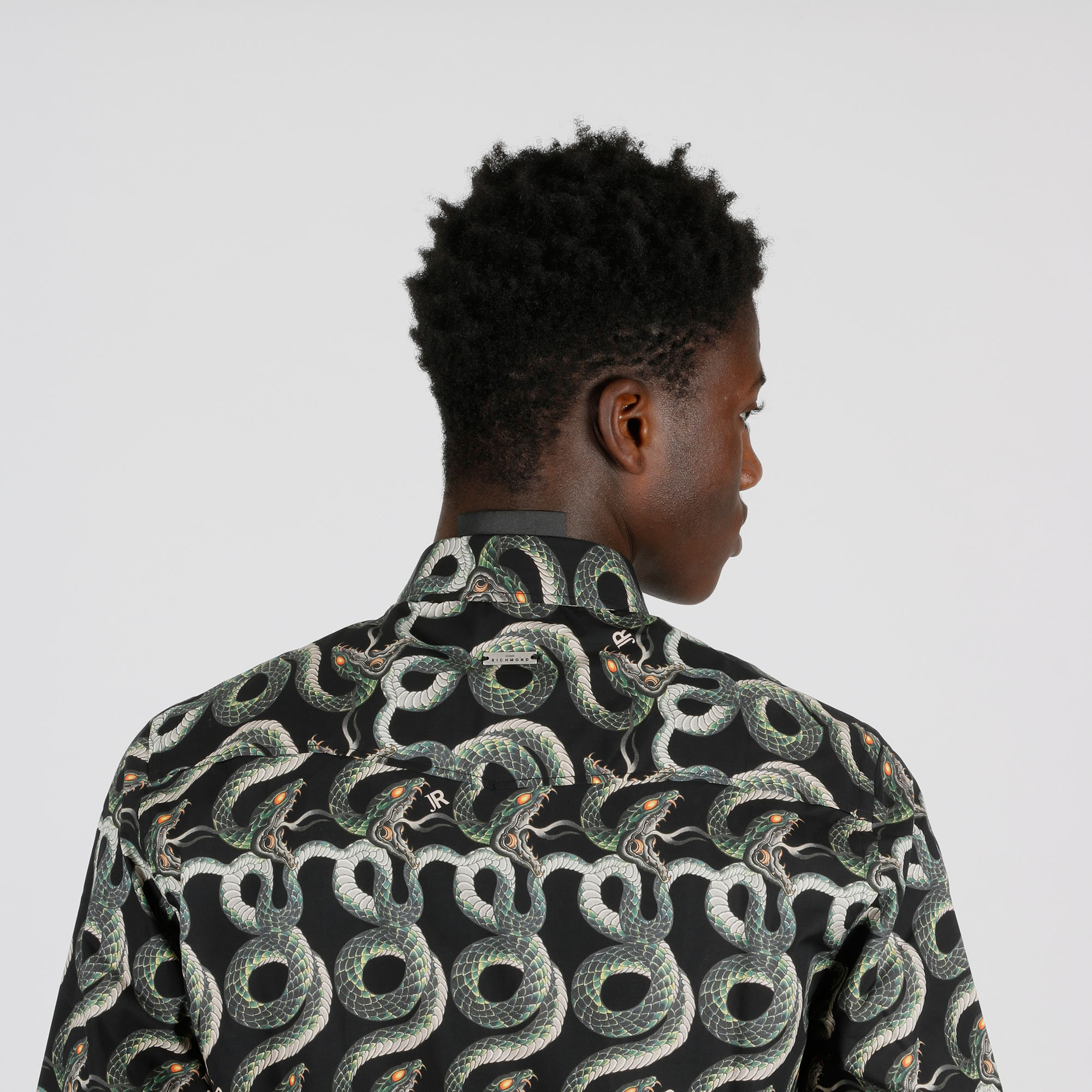 Camicia serpente - Nero