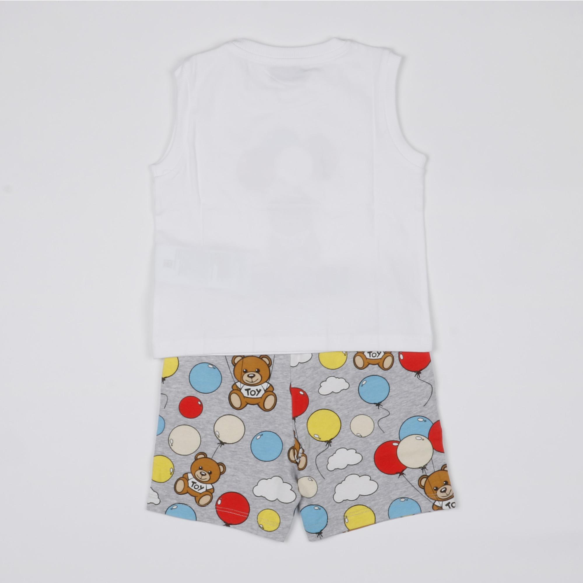 canotta e pantaloncino teddy bear ballons - Bianco