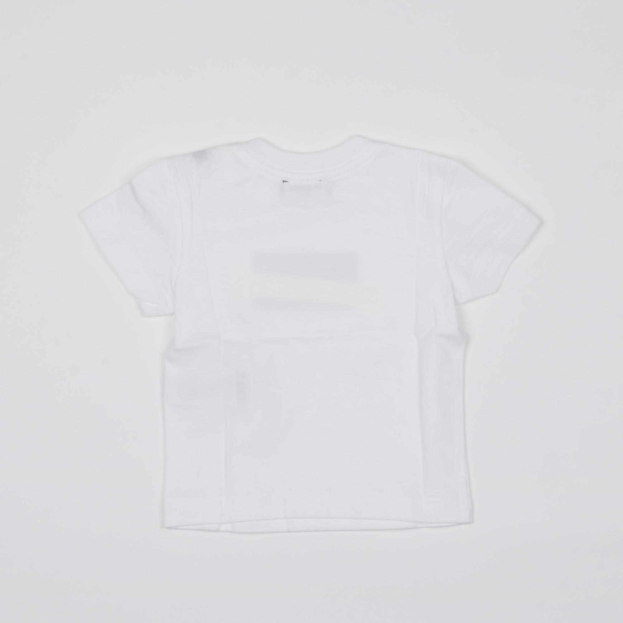 t-shirt logo e tape fluo - Bianco
