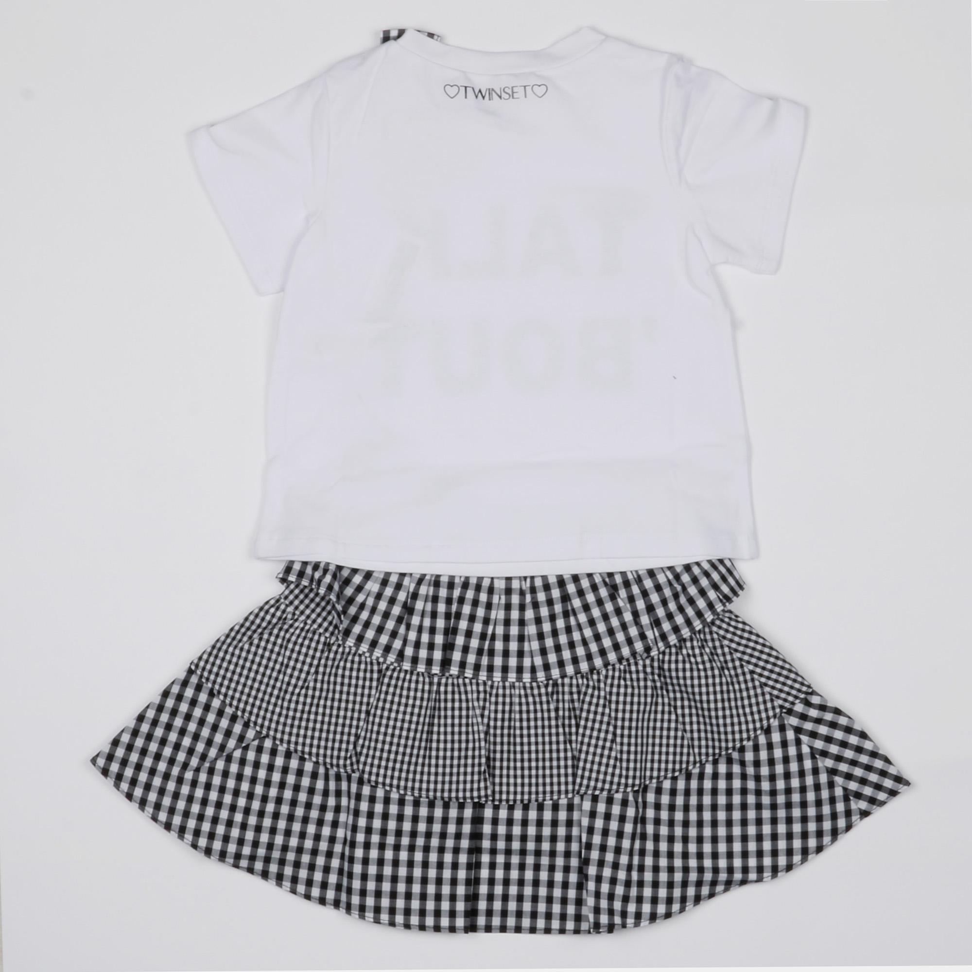 Completo gonna e t-shirt - Bianco / Blu