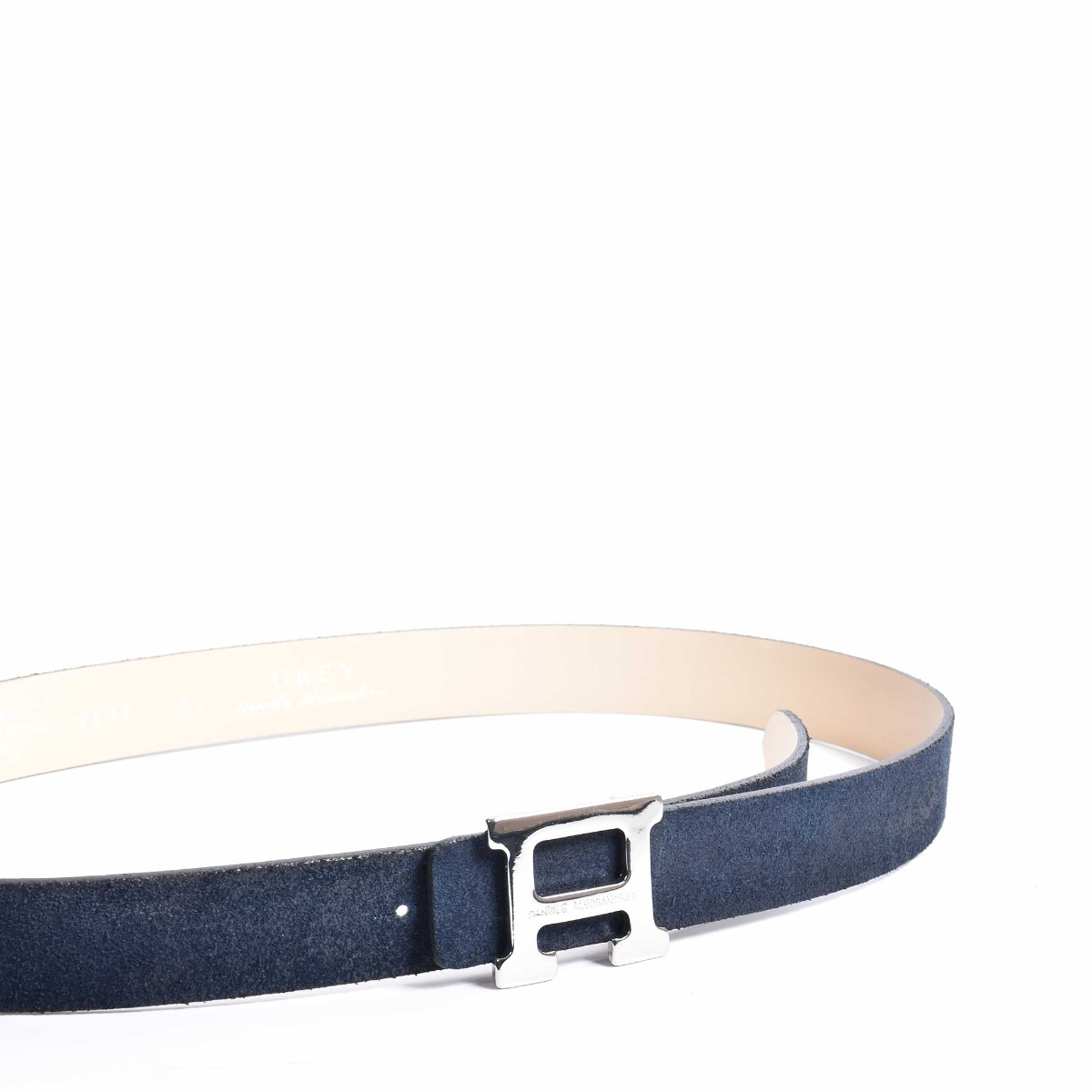 Cintura scamosciata - Blu