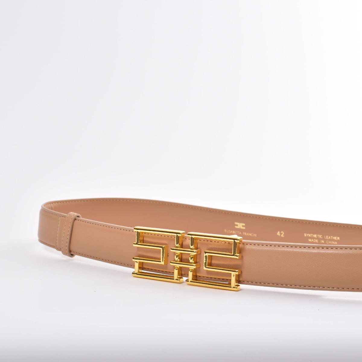 Cintura logo- Cammello
