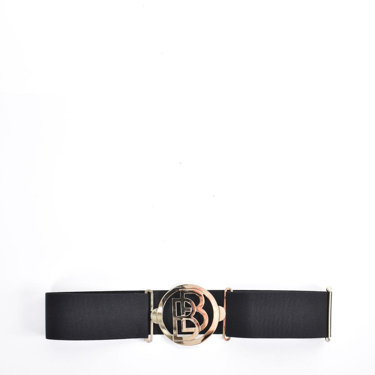 Cintura elastica doppia B- Nero
