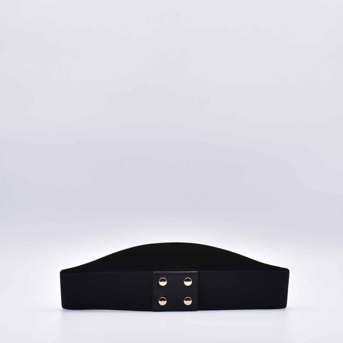 Cintura larga maxi logo- Nero