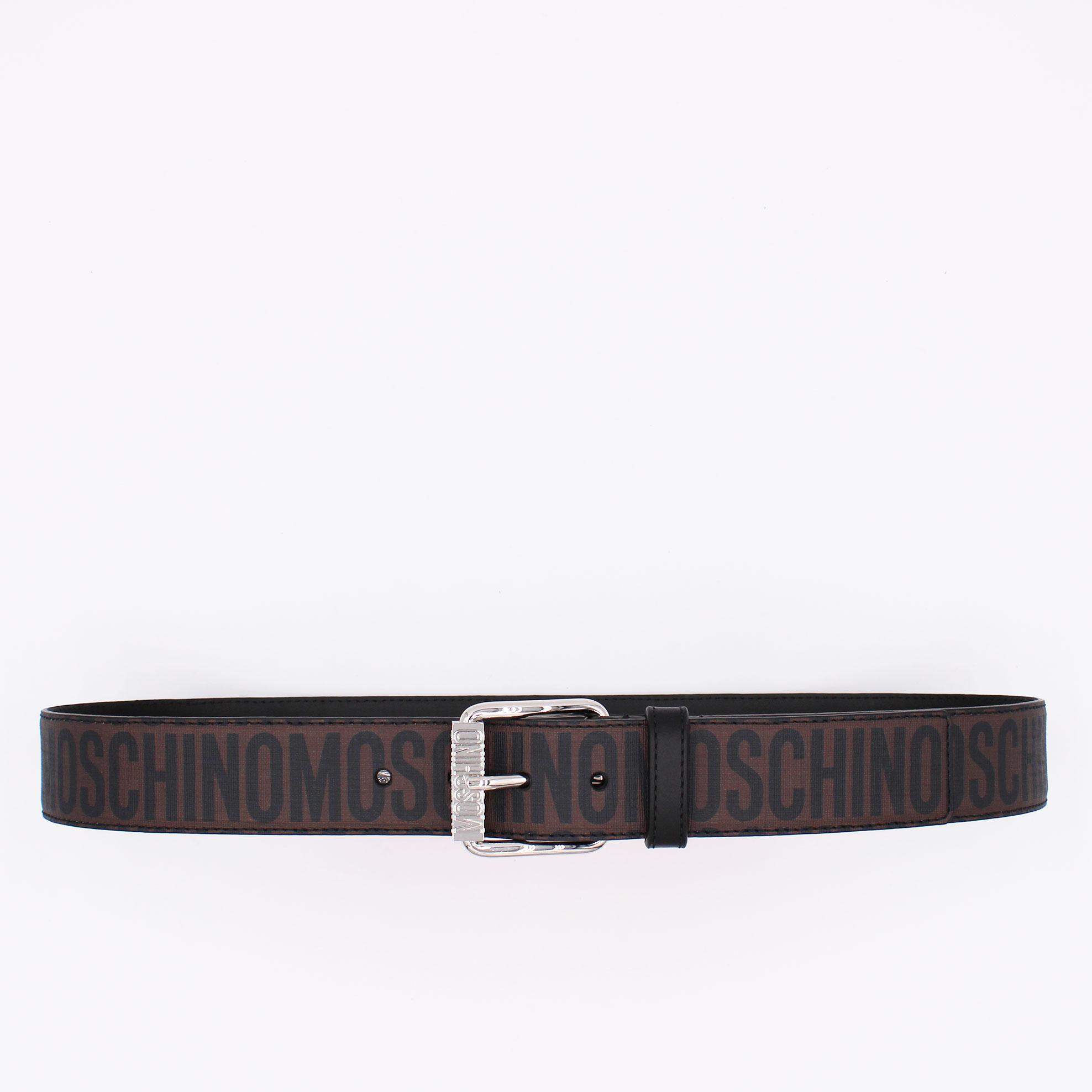 Cintura logo all over couture - Marrone/nero