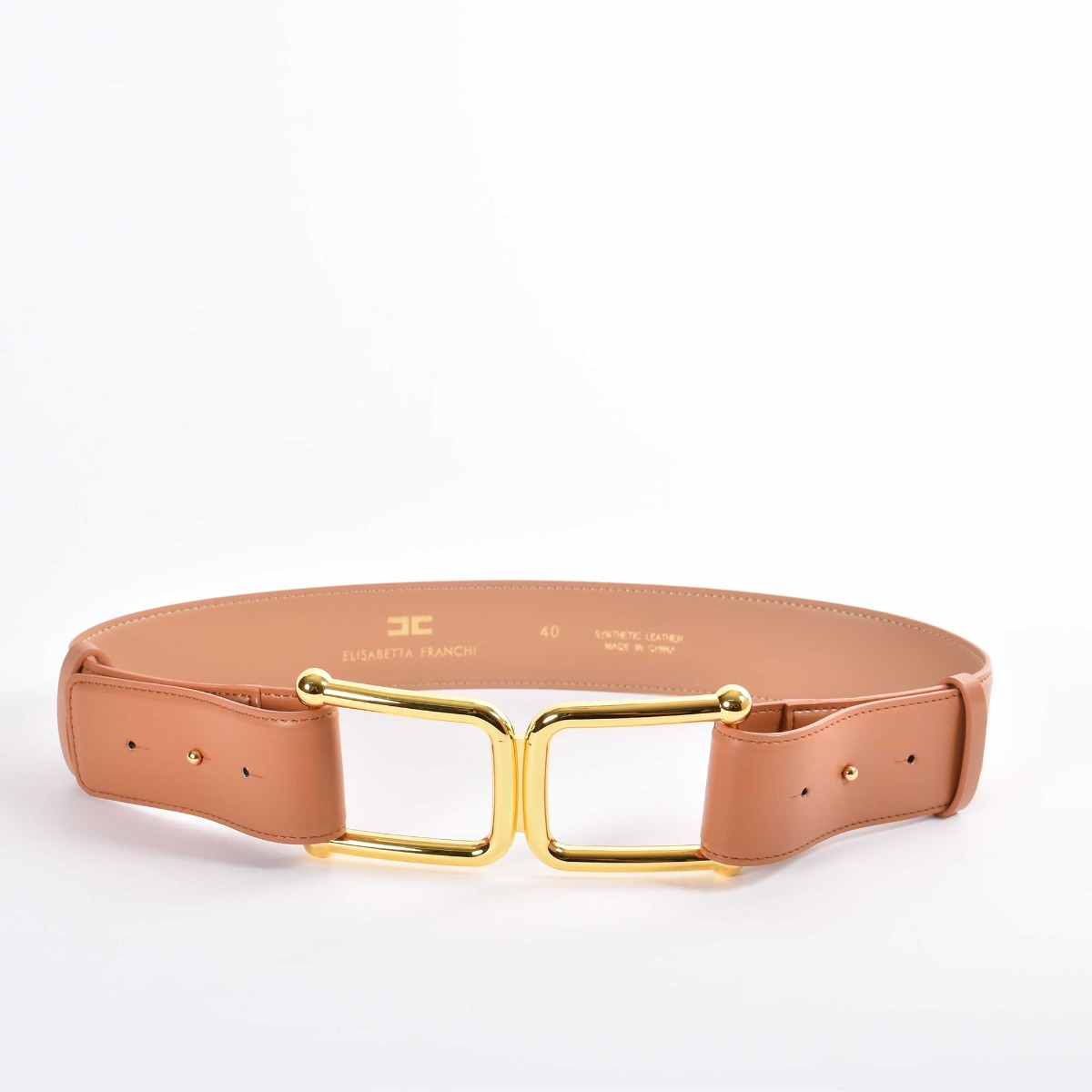 Cintura logo cc - Cuoio
