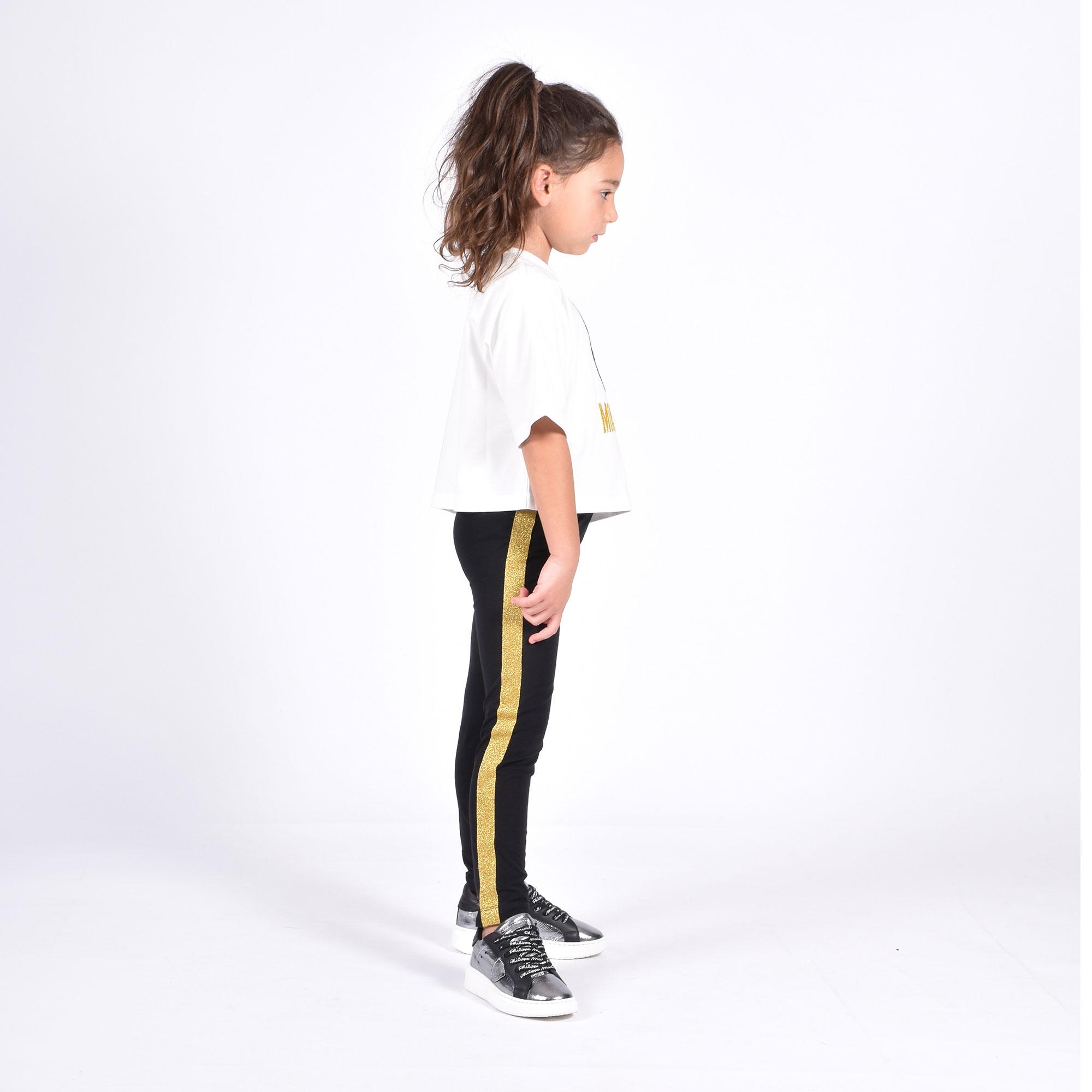 T-shirt e leggings bear tigrato- Bianco/ Nero
