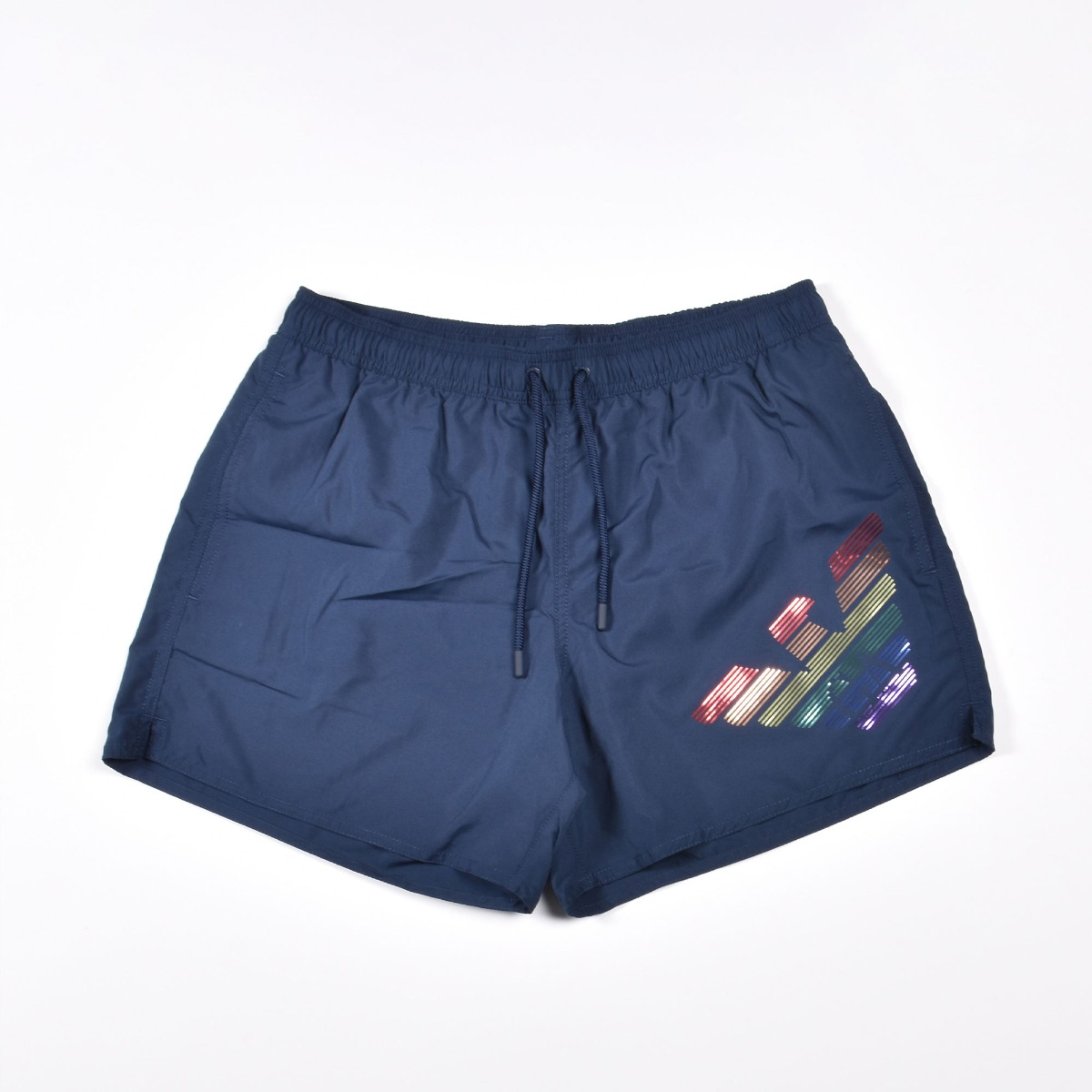 Costume boxer logo rainbow- Blu navy