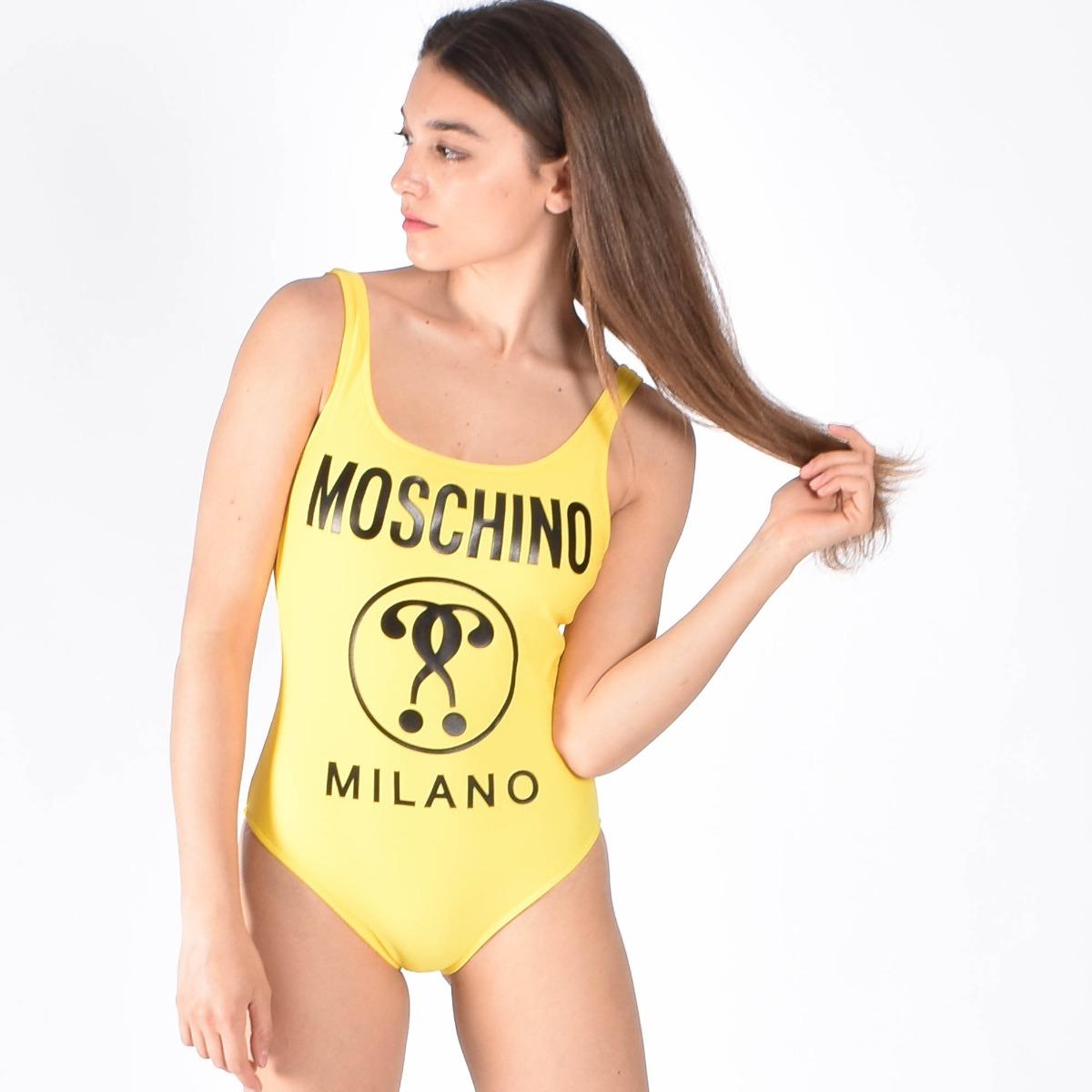 Costume intero logo milano- Giallo