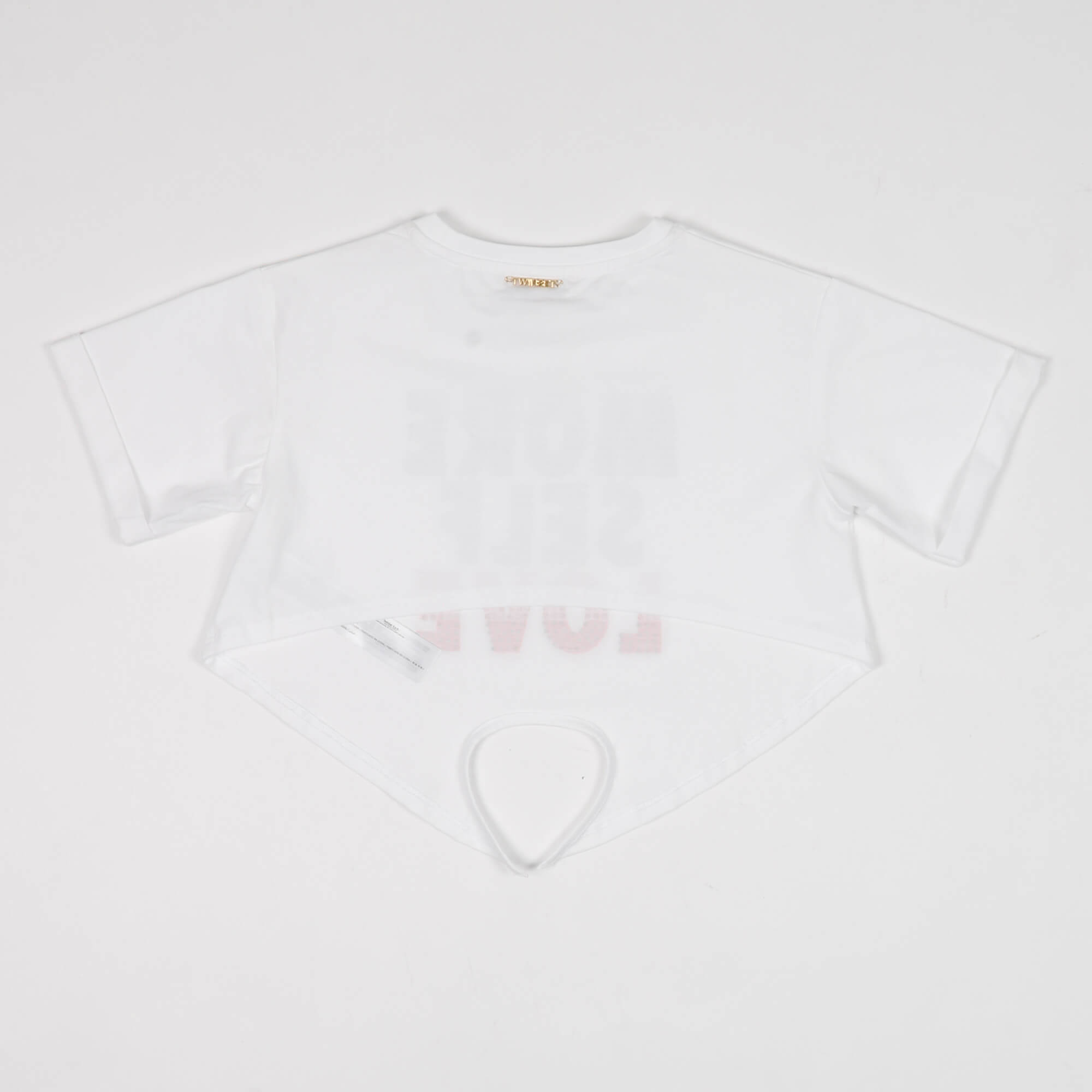 Crop t-shirt stampa multicolor - Bianco