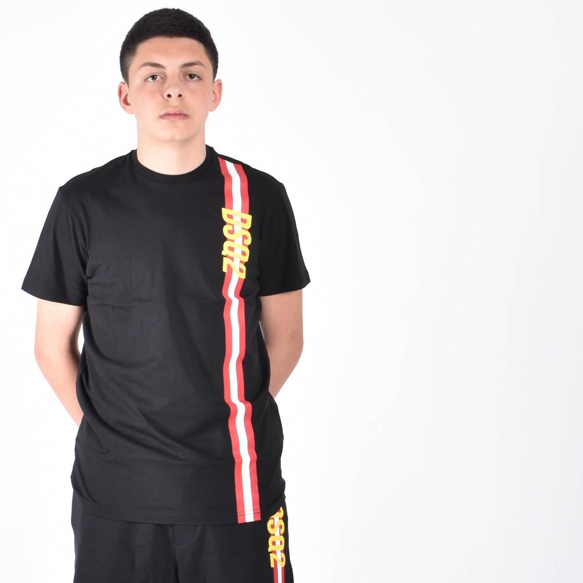 T-shirt con banda - Nero