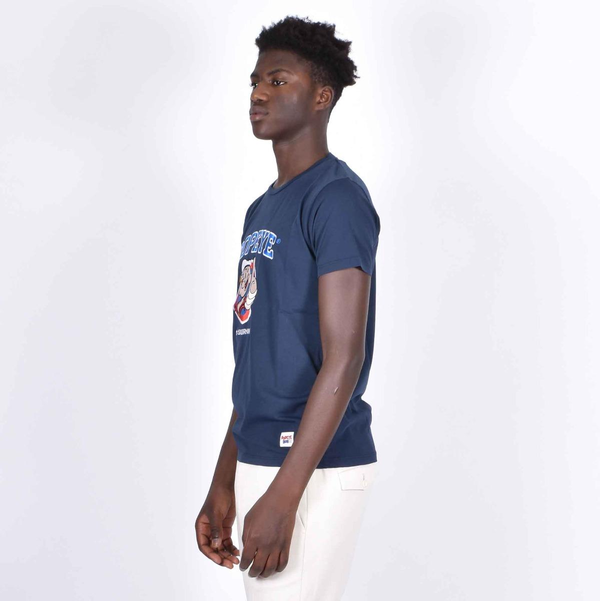 T-shirt dallas popeye - Blu