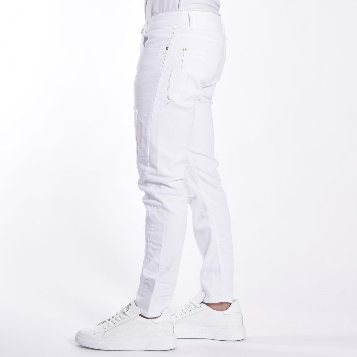 Denim barret- Bianco
