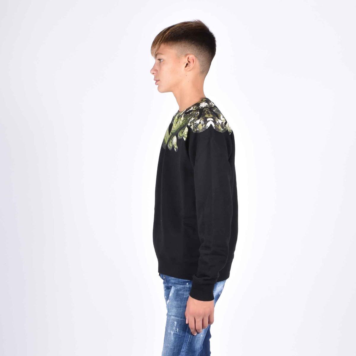 Sweatshirt camou snake - Nero