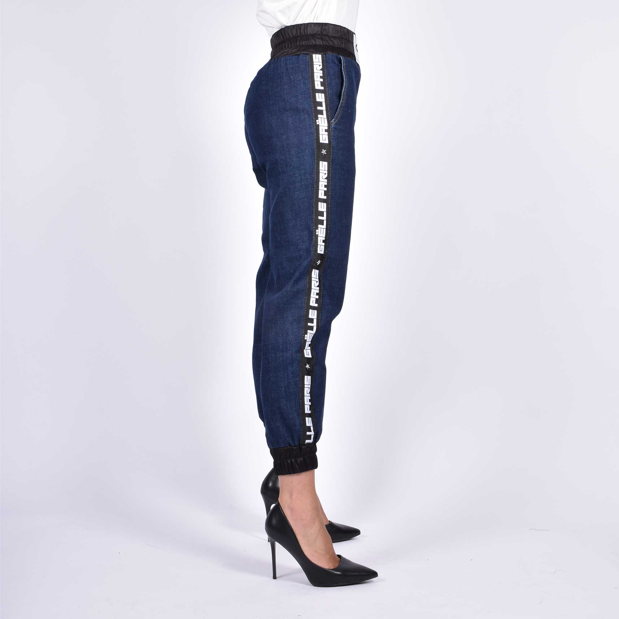 Jeans fascia raso elastica - Denim
