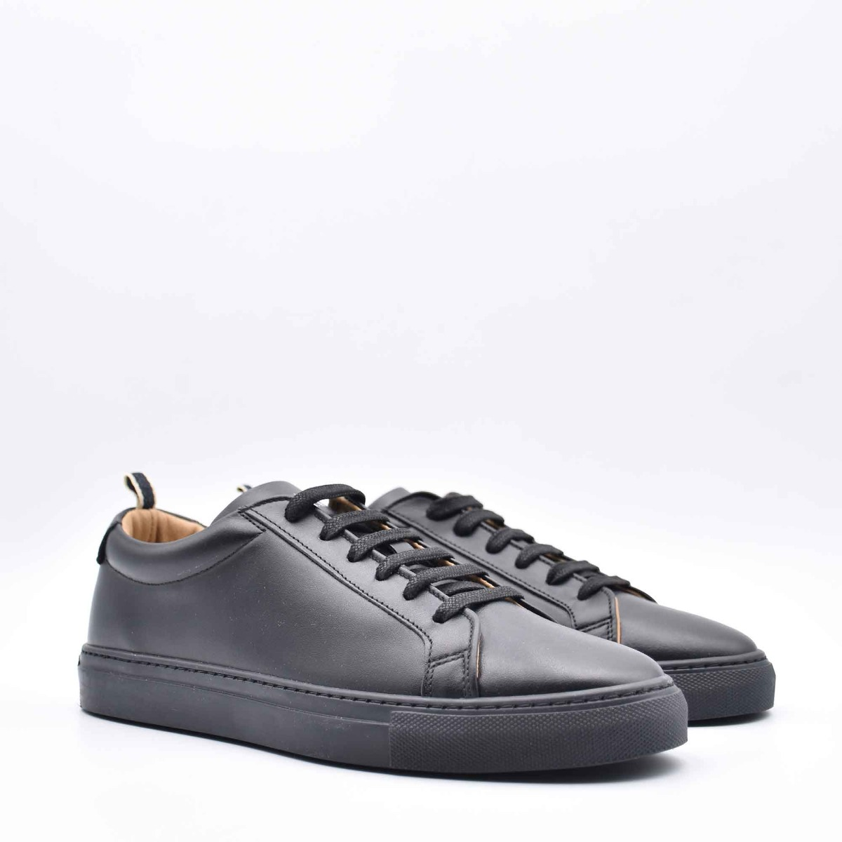 Sneakers in pelle ritz - Nero