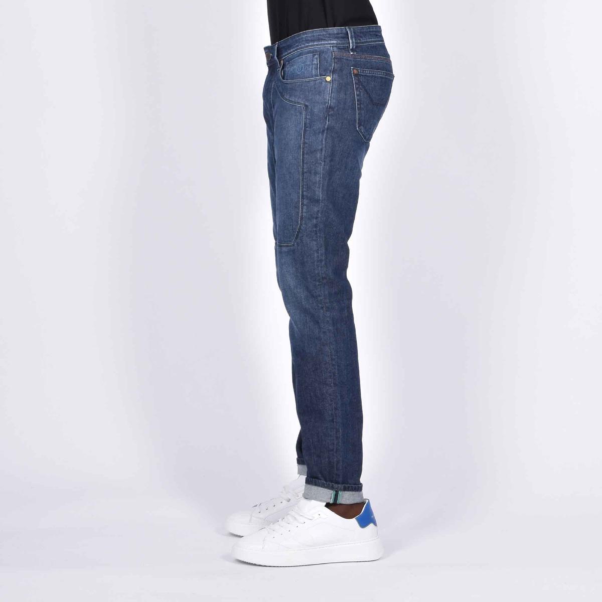 Jeans toppe in tono- Denim medio
