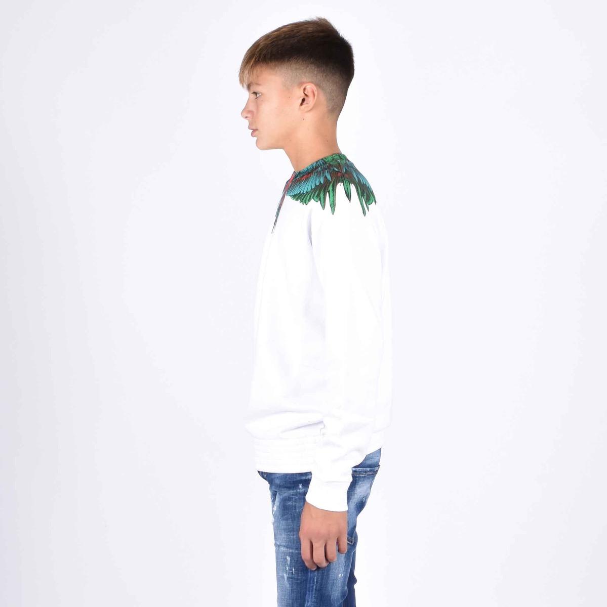 Sweatshirt green wings - Bianco