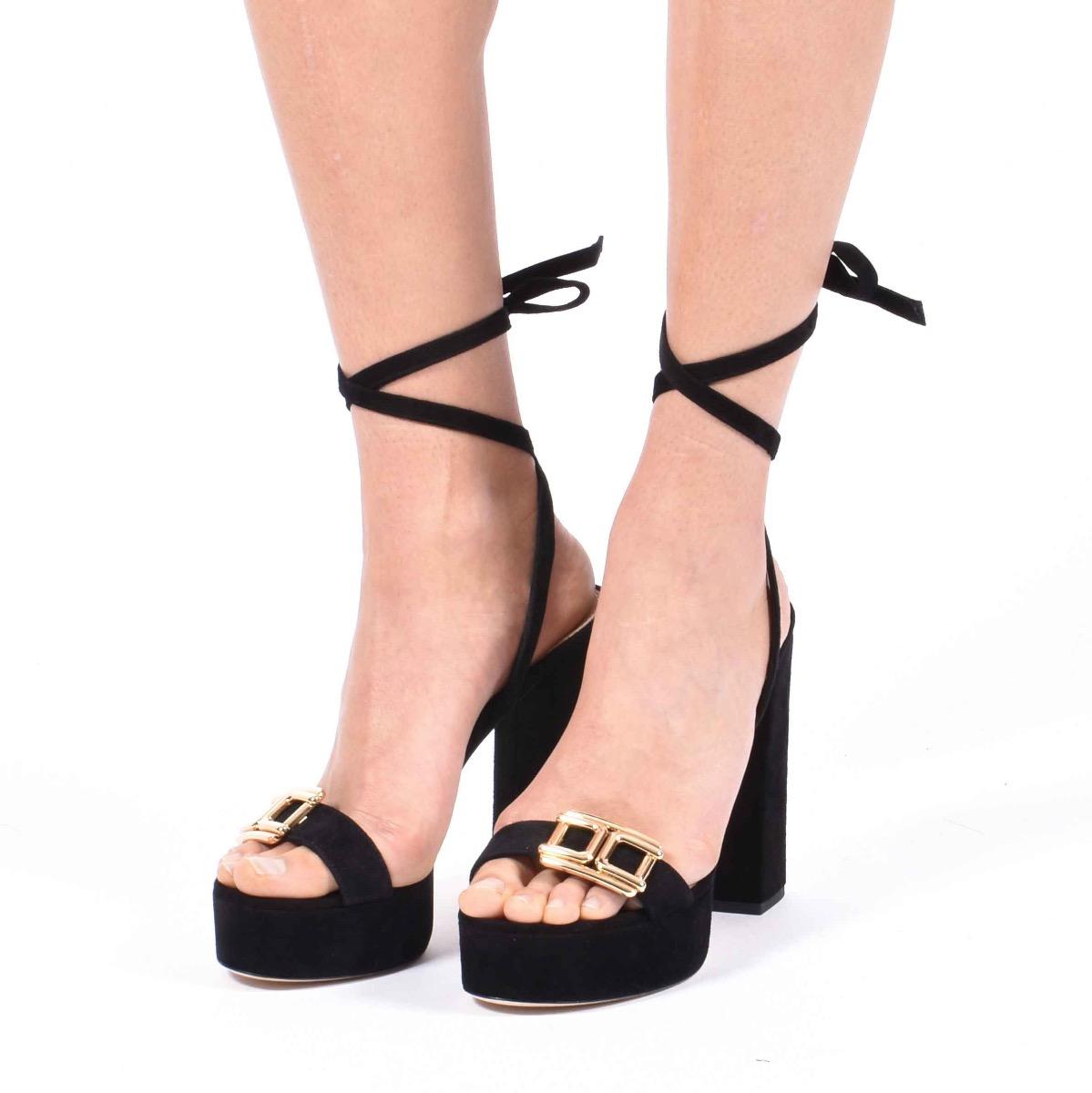 Sandalo logo oro - Nero