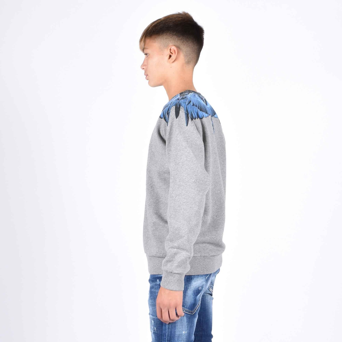 Sweatshirt blue wings - Grigio