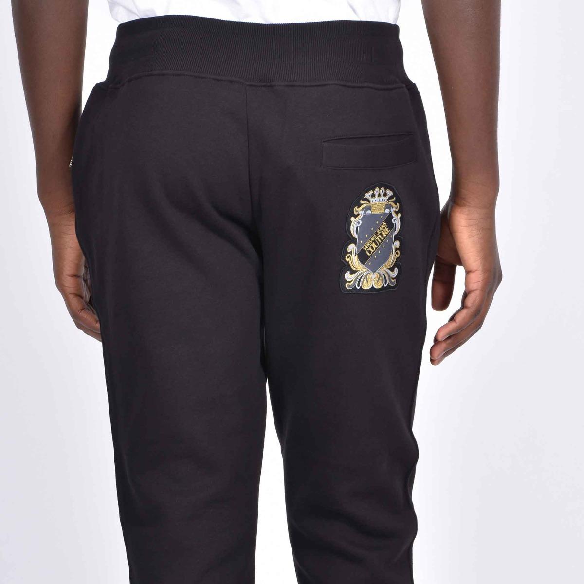 Pantalone tuta stemma logo- Nero