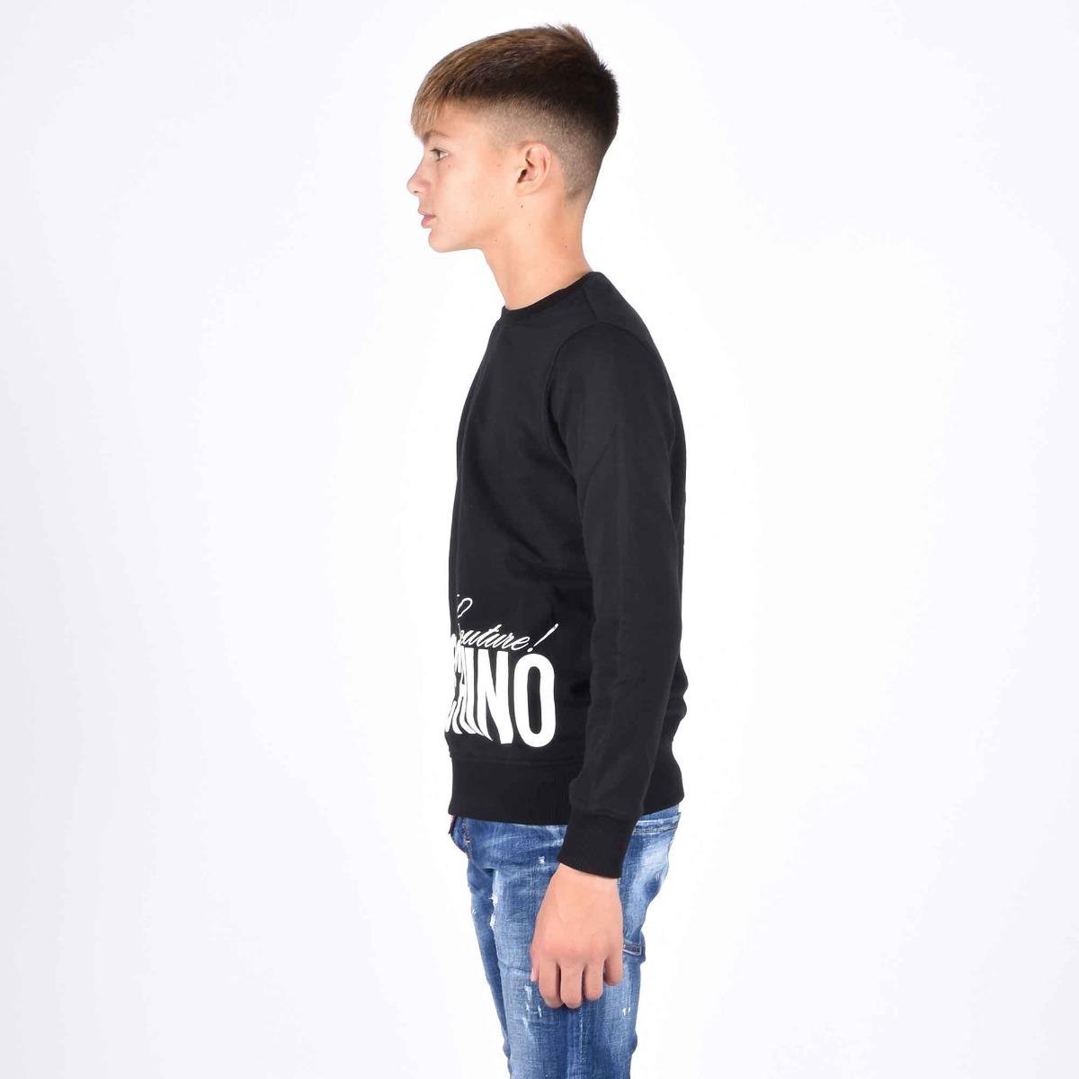 felpa girocollo logo couture - Nero