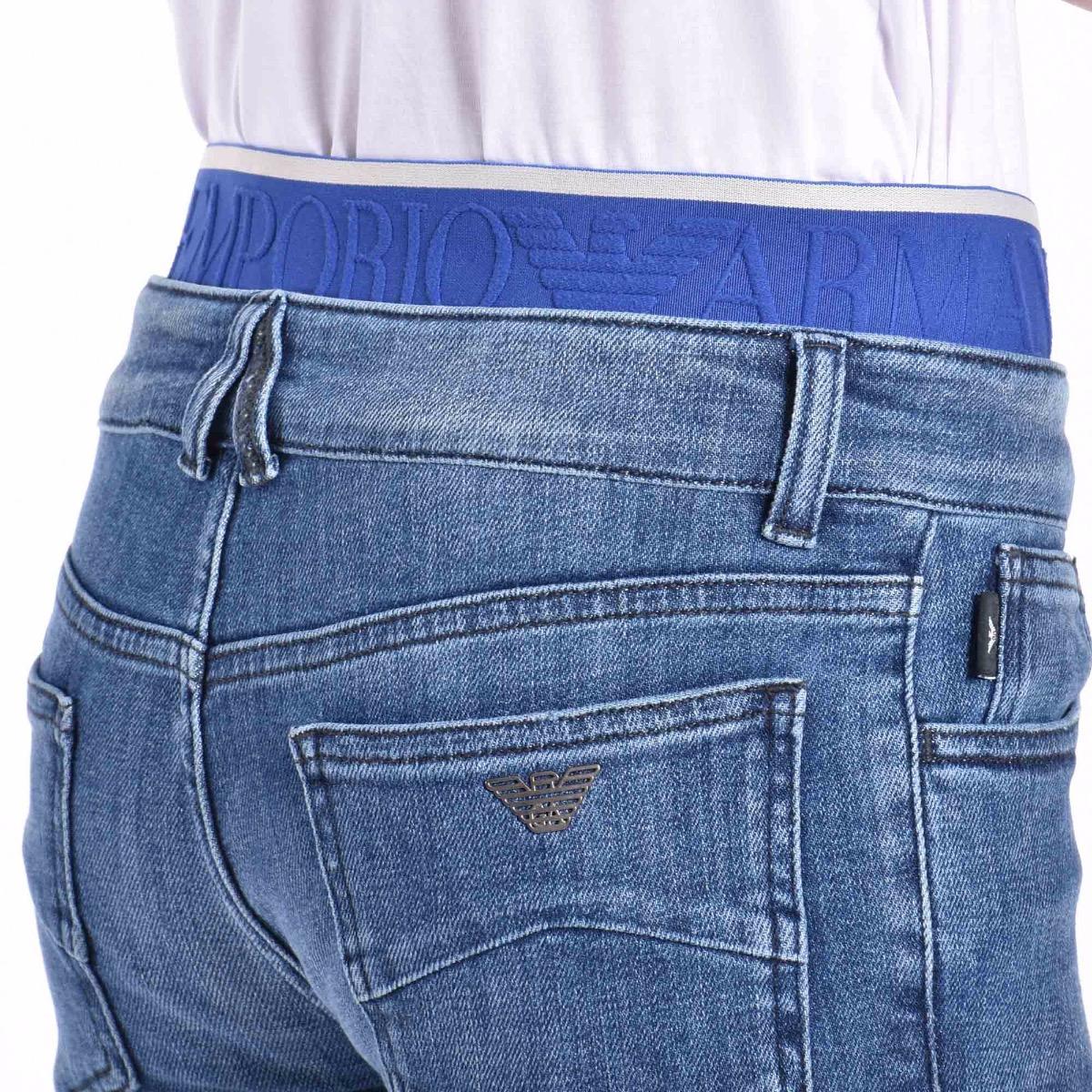 Jeans con fascia elastica  - Denim