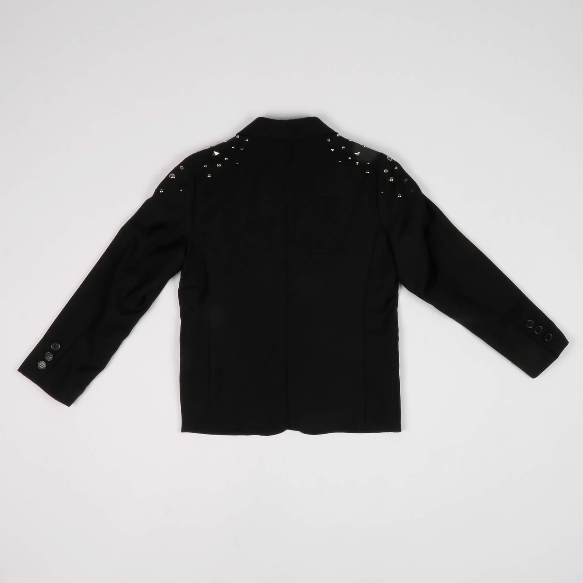 Blazer con borchie- Nero